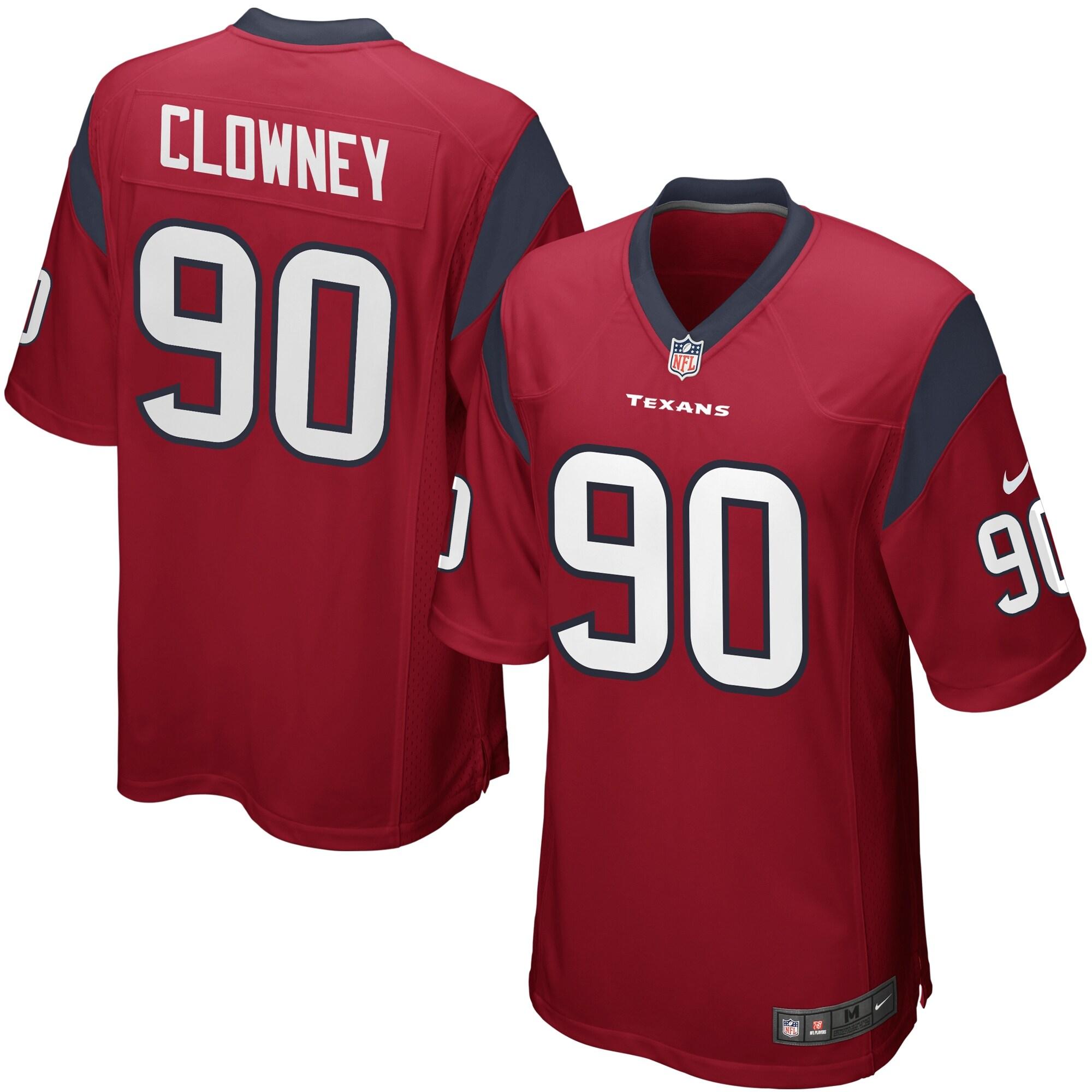 Jadeveon Clowney Houston Texans Nike Alternate Game Jersey - Red