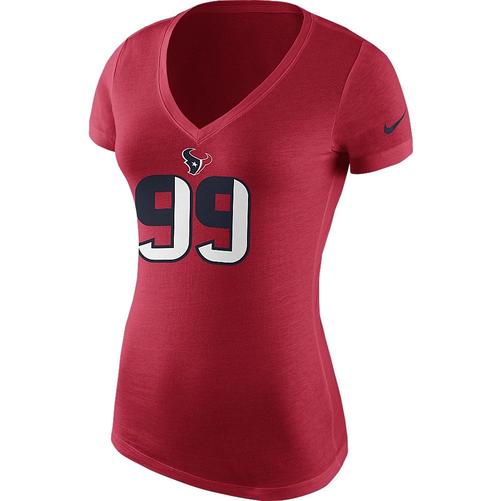 JJ Watt Houston Texans Nike Women's Name & Number T-Shirt - Red