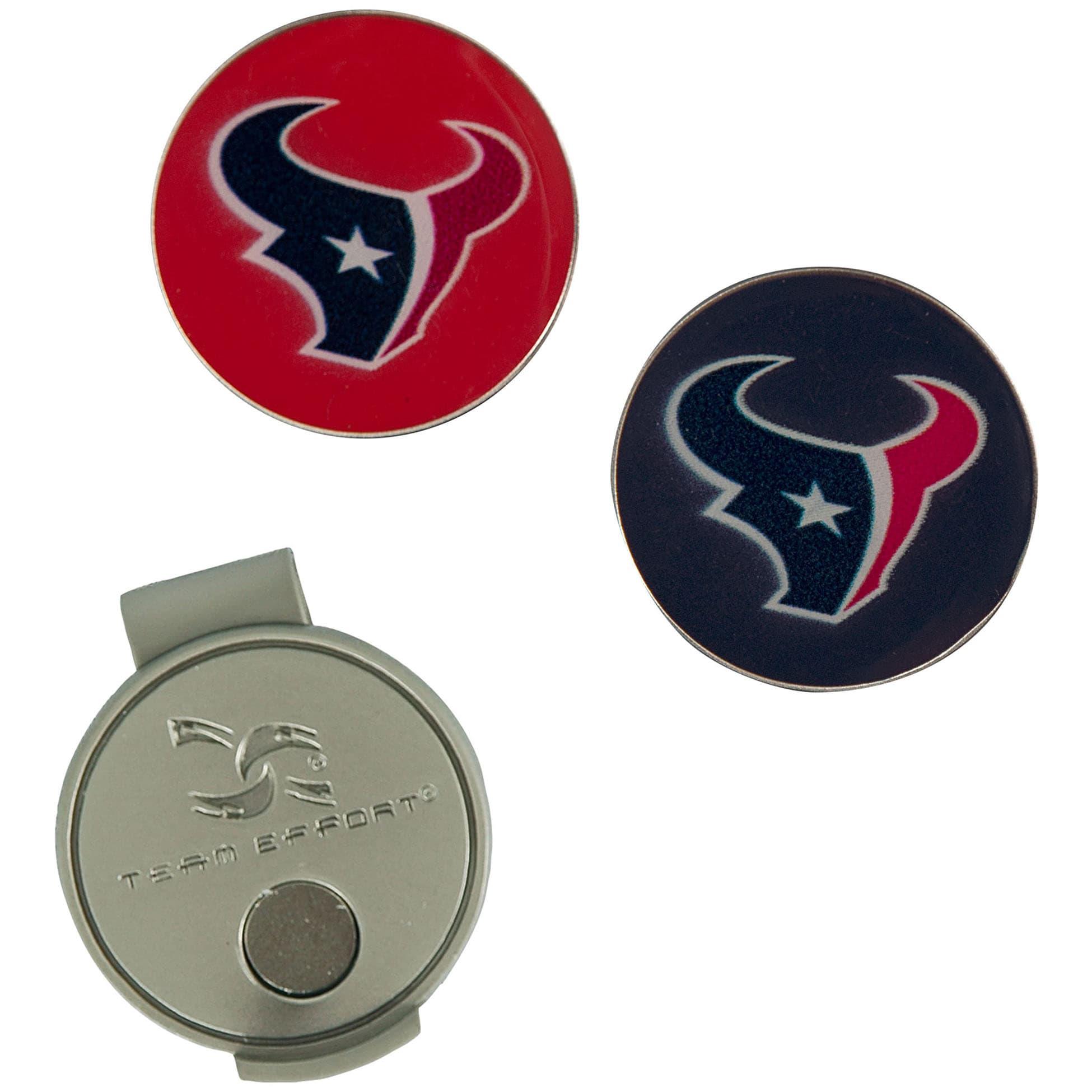 Houston Texans Hat Clip & Ball Markers Set