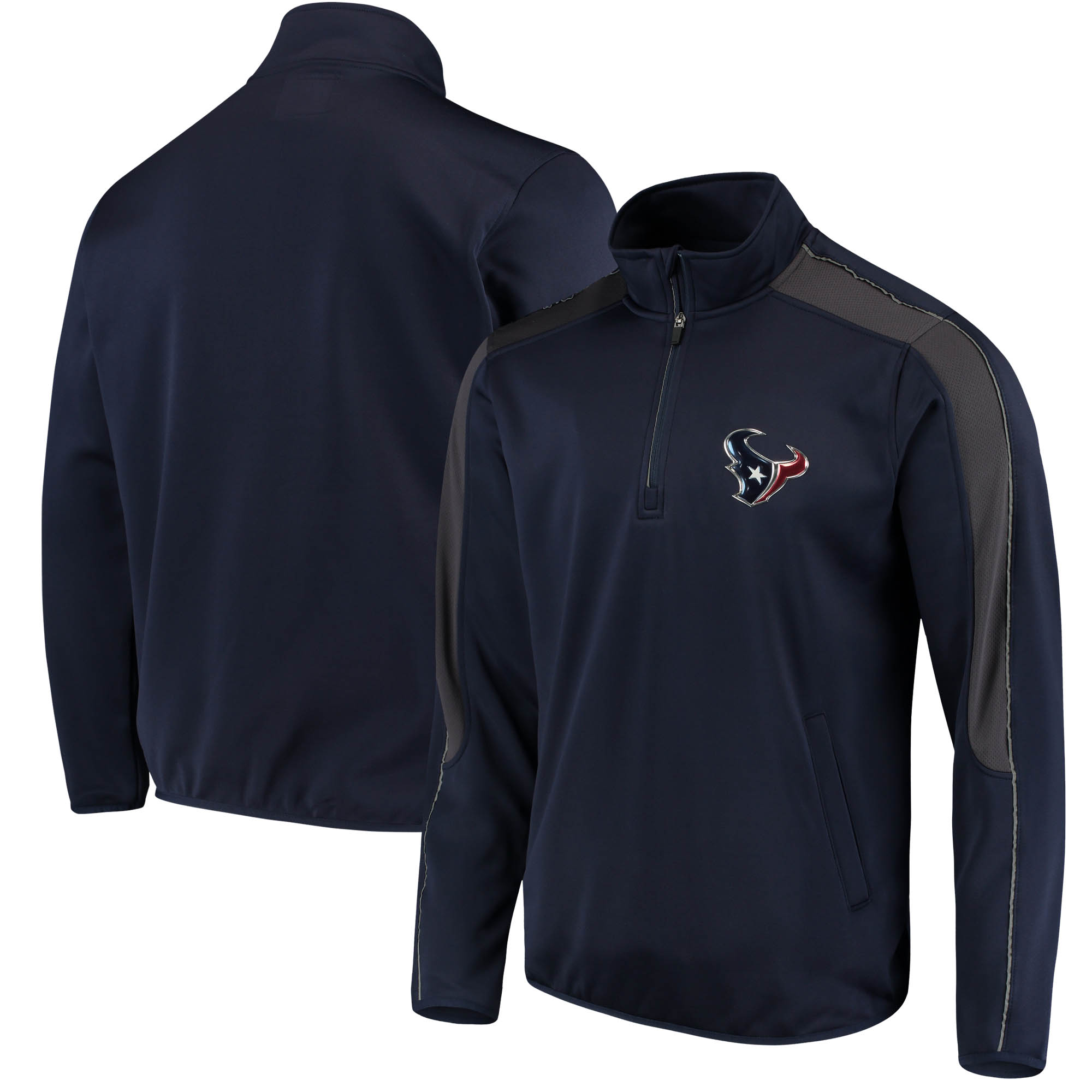 Houston Texans G-III Sports by Carl Banks I Formation Quarter-Zip Pullover Jacket - Navy