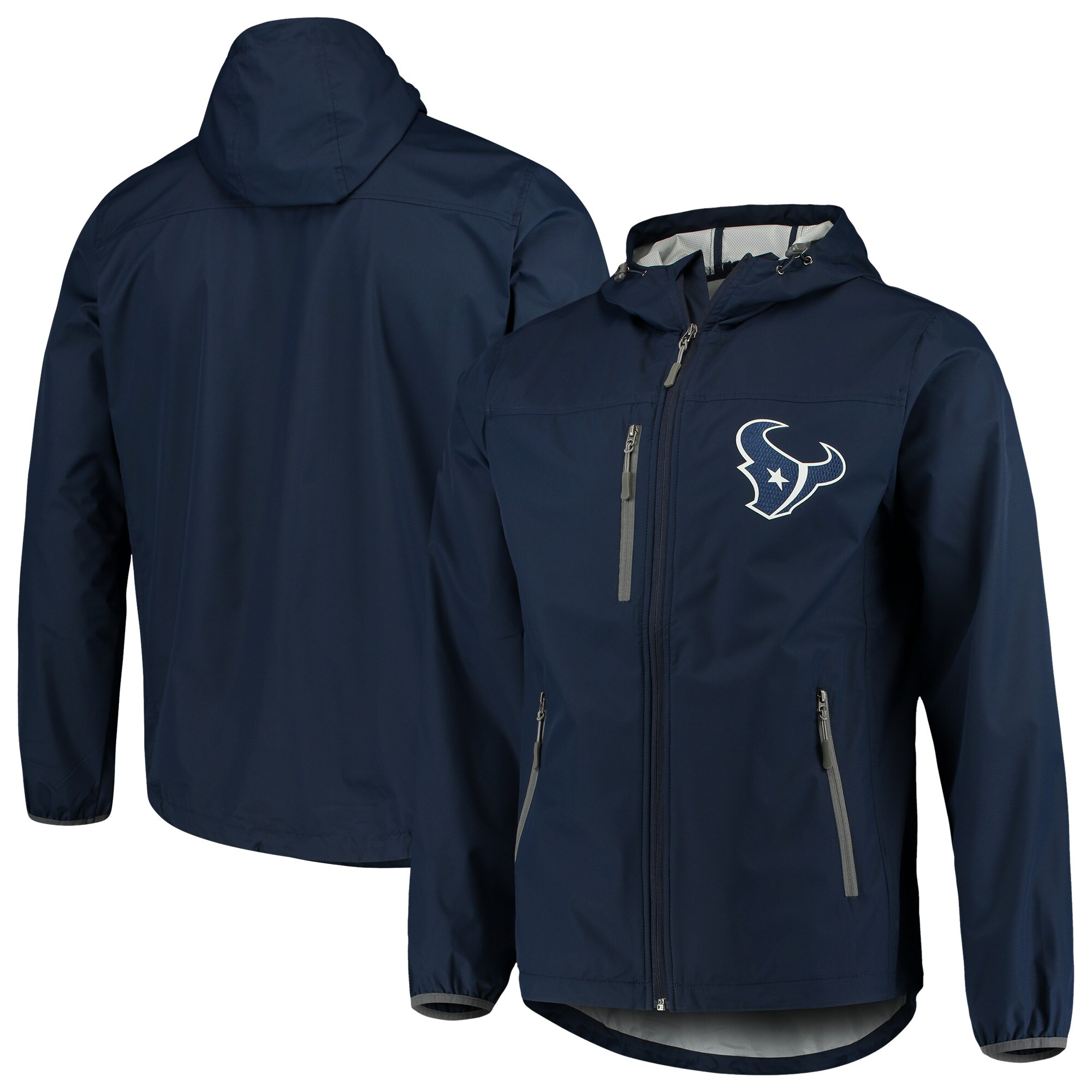 Houston Texans G-III Sports by Carl Banks Trick Play Full-Zip Hooded Jacket - Navy