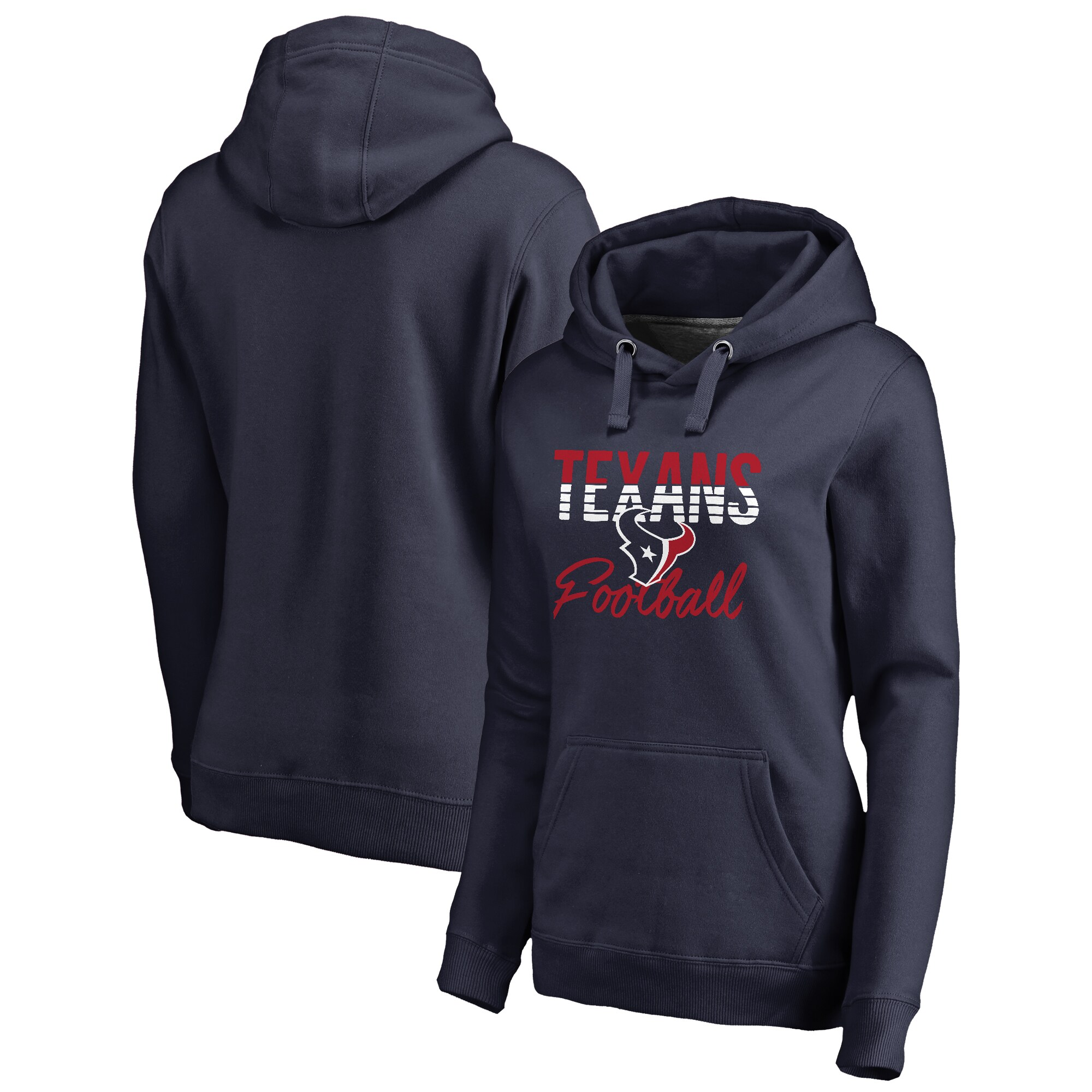 Houston Texans NFL Pro Line by Fanatics Branded Women's Free Line Pullover Hoodie - Navy
