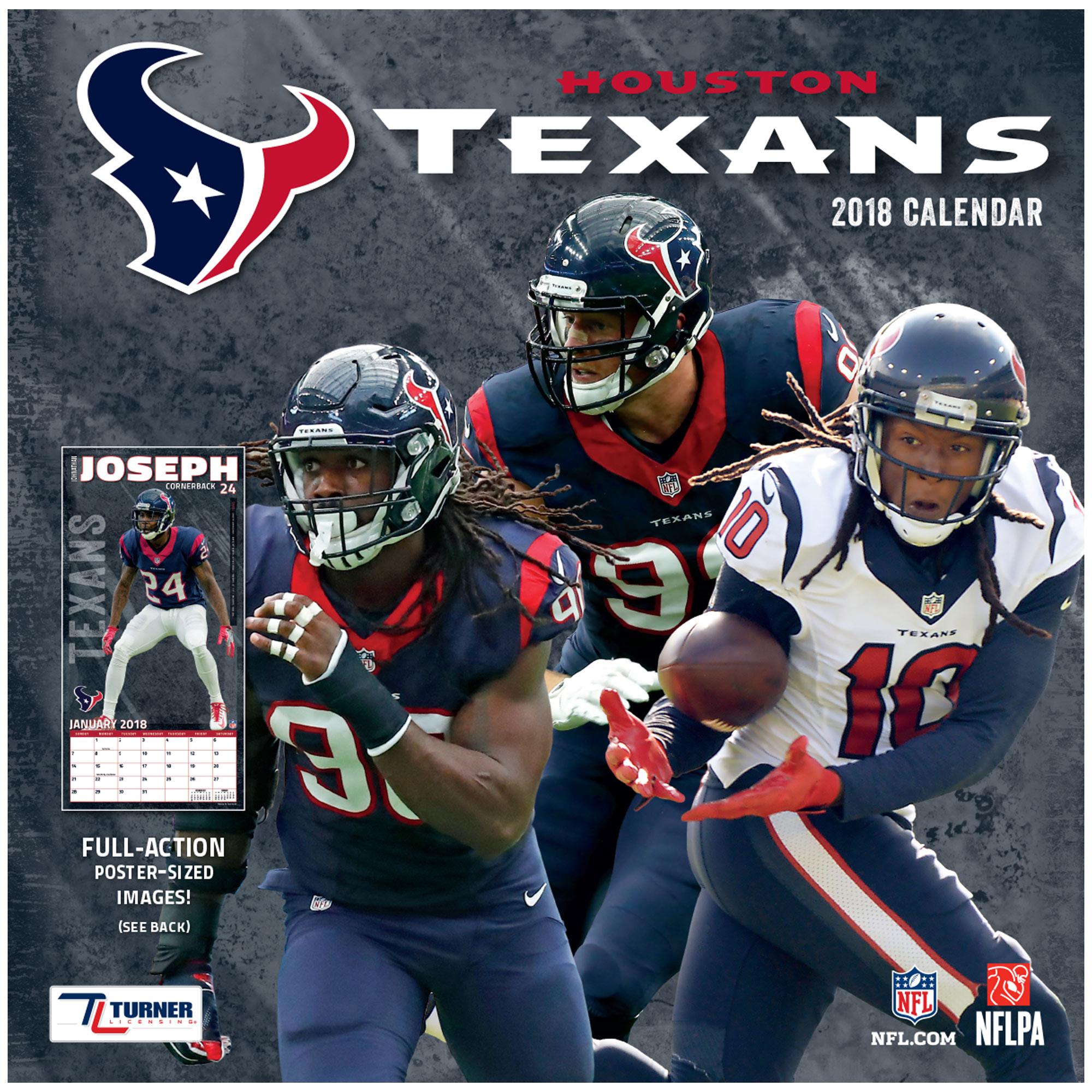 Houston Texans 2018 Mini Wall Calendar