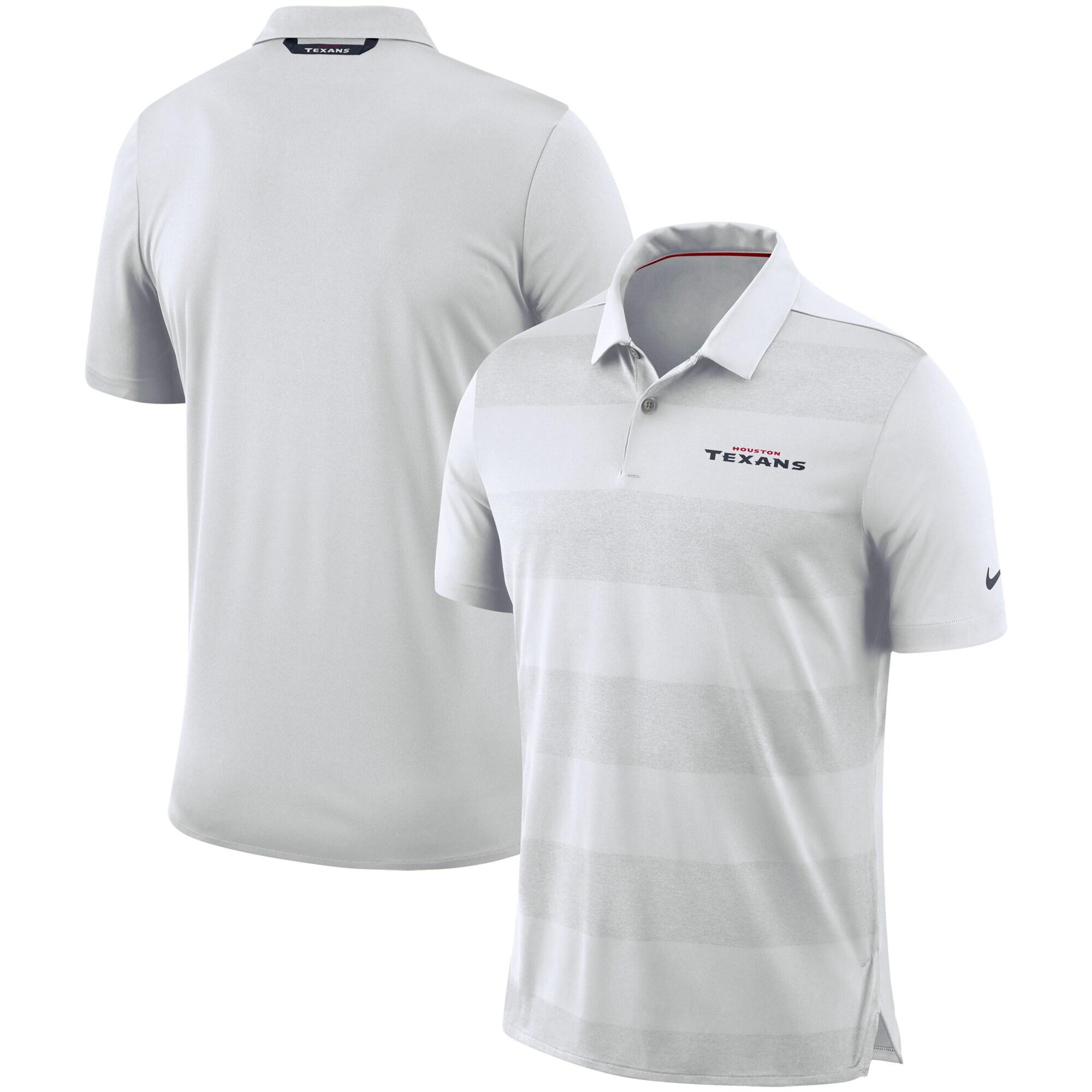 Houston Texans Nike Sideline Early Season Wordmark Performance Polo - White