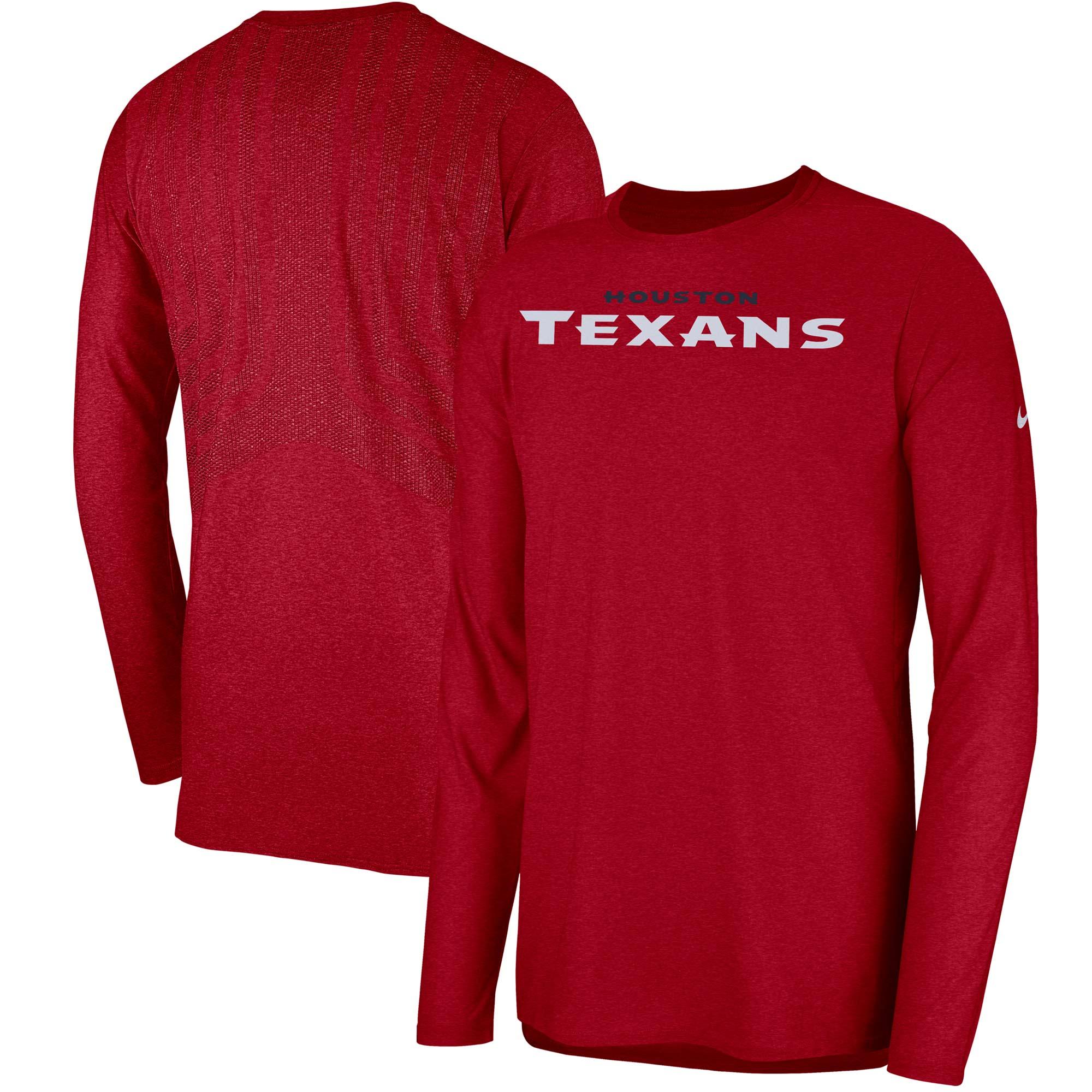 Houston Texans Nike Sideline Player Long Sleeve T-Shirt - Red