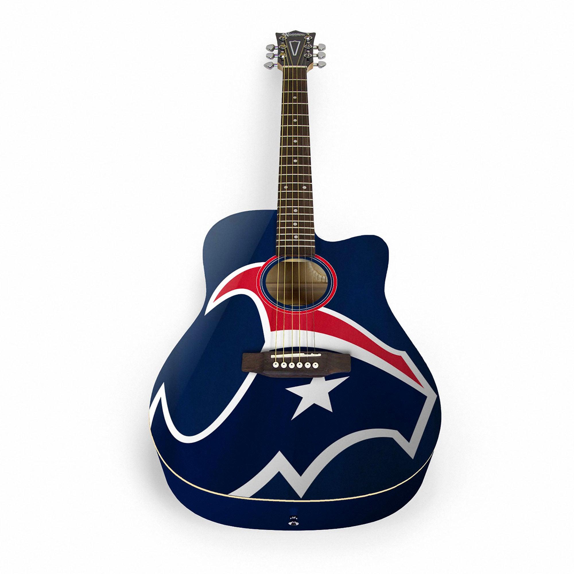 Houston Texans Woodrow Acoustic Guitar