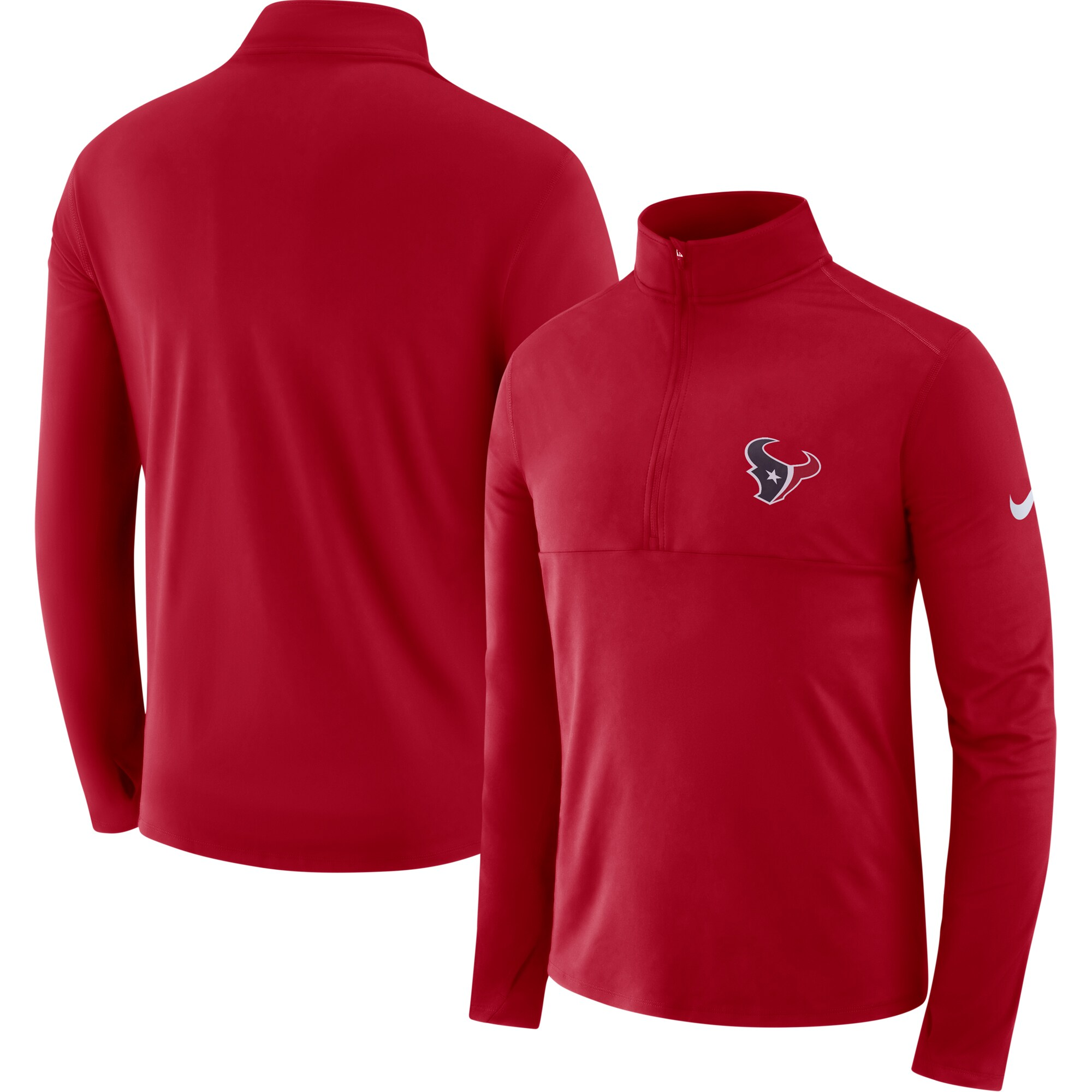 Houston Texans Nike Fan Gear Element Half-Zip Performance Jacket - Red