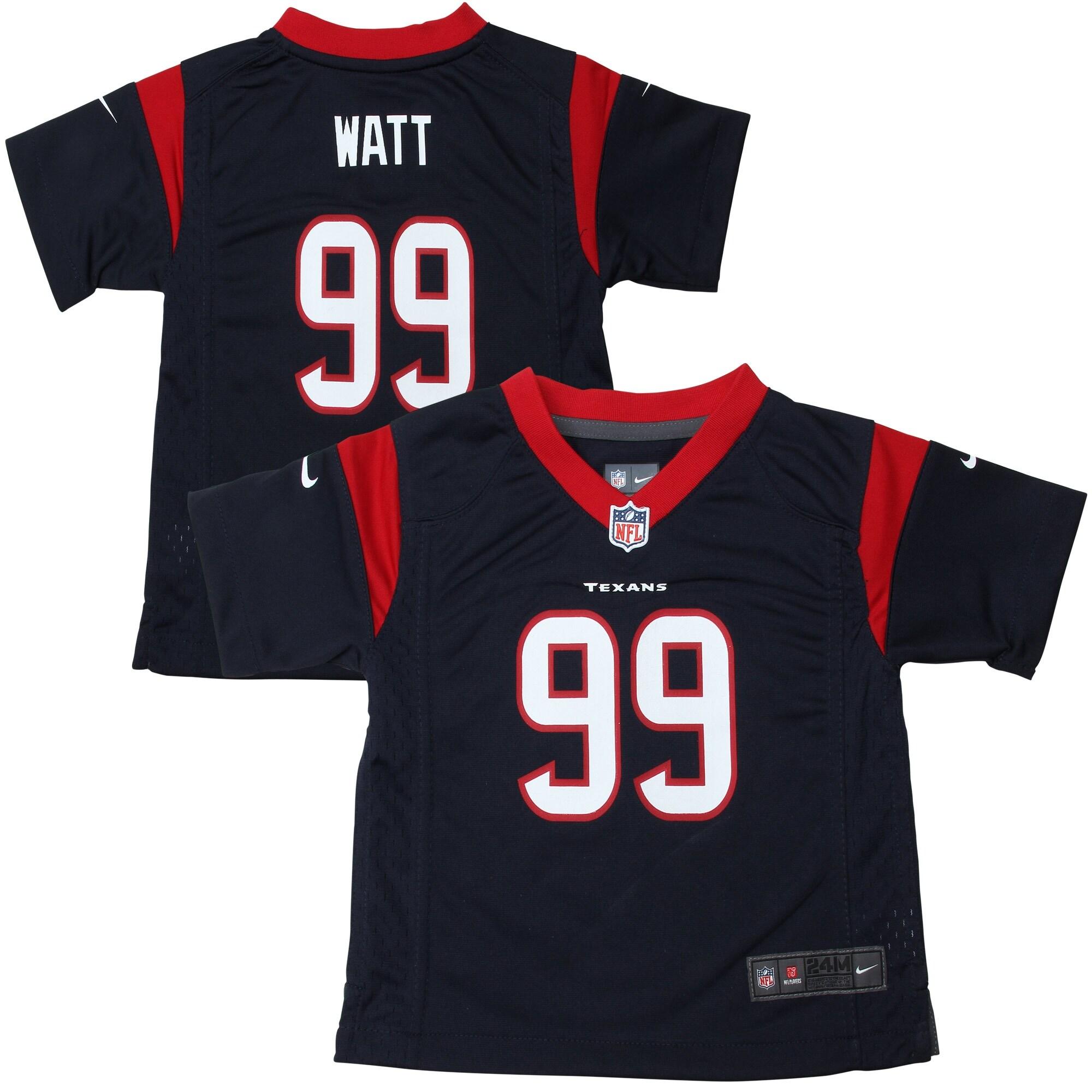 JJ Watt Houston Texans Nike Infant Team Color Game Jersey - Navy Blue