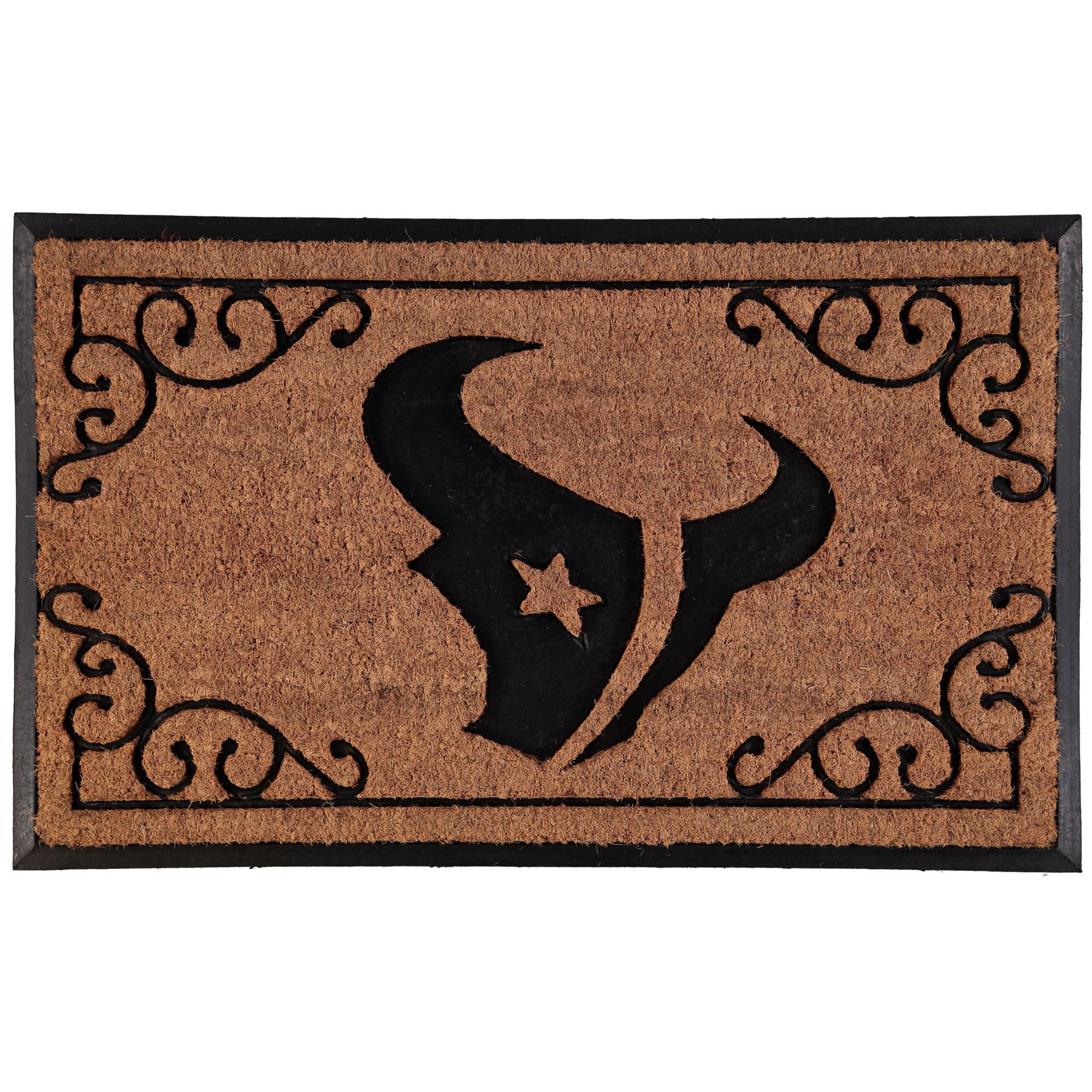 """Houston Texans 24"""" X 39"""" Coir Door Mat"""