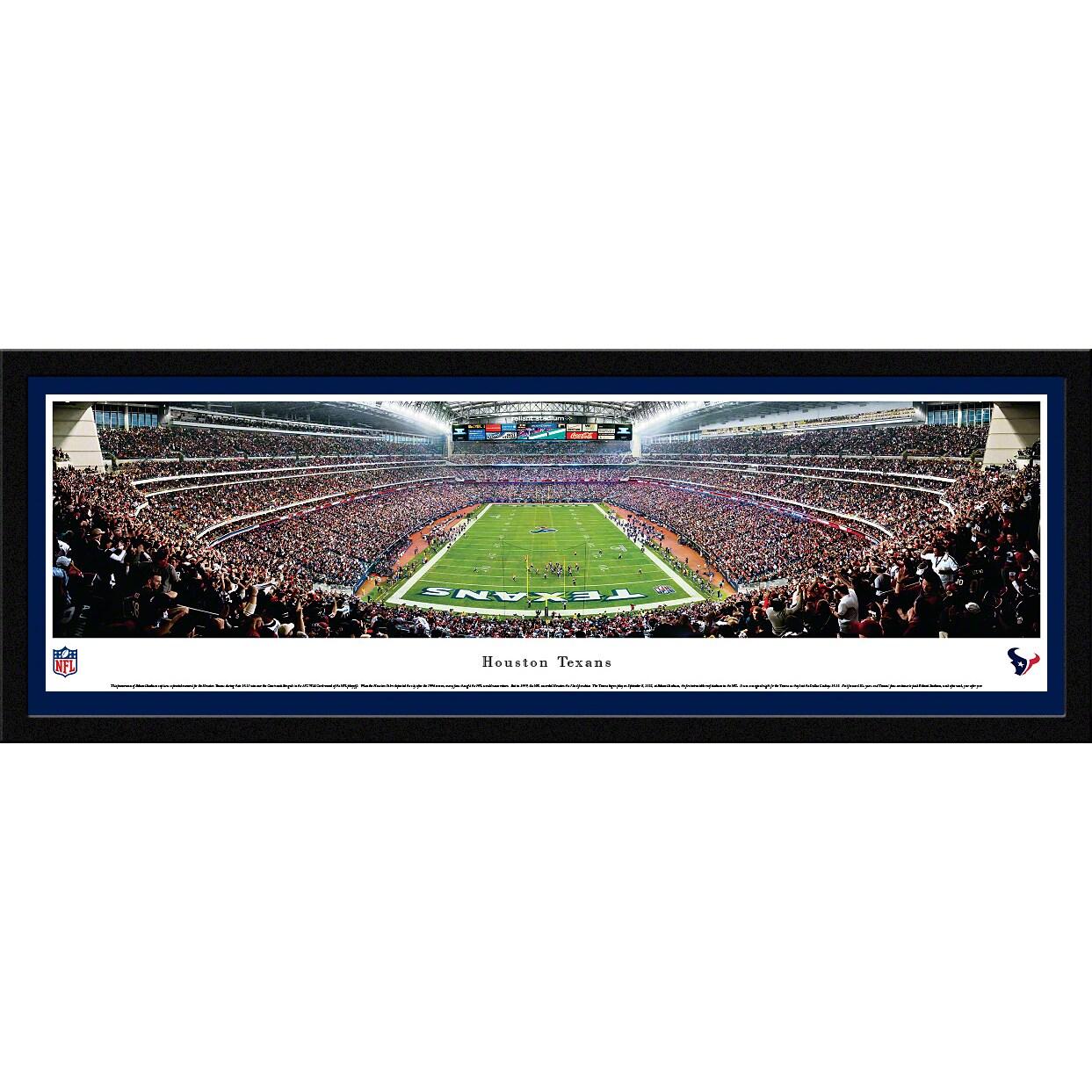 "Houston Texans 16"" x 42"" Select Frame Panoramic Photo"
