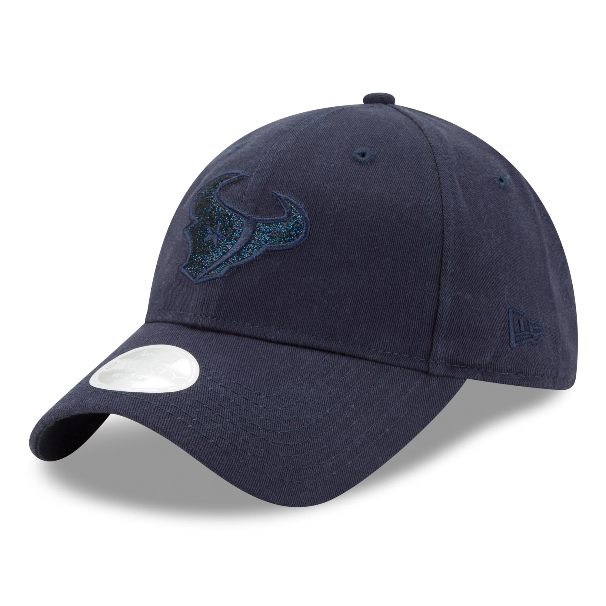 Houston Texans New Era Women's Team Glisten Tonal 9TWENTY Adjustable Hat - Navy