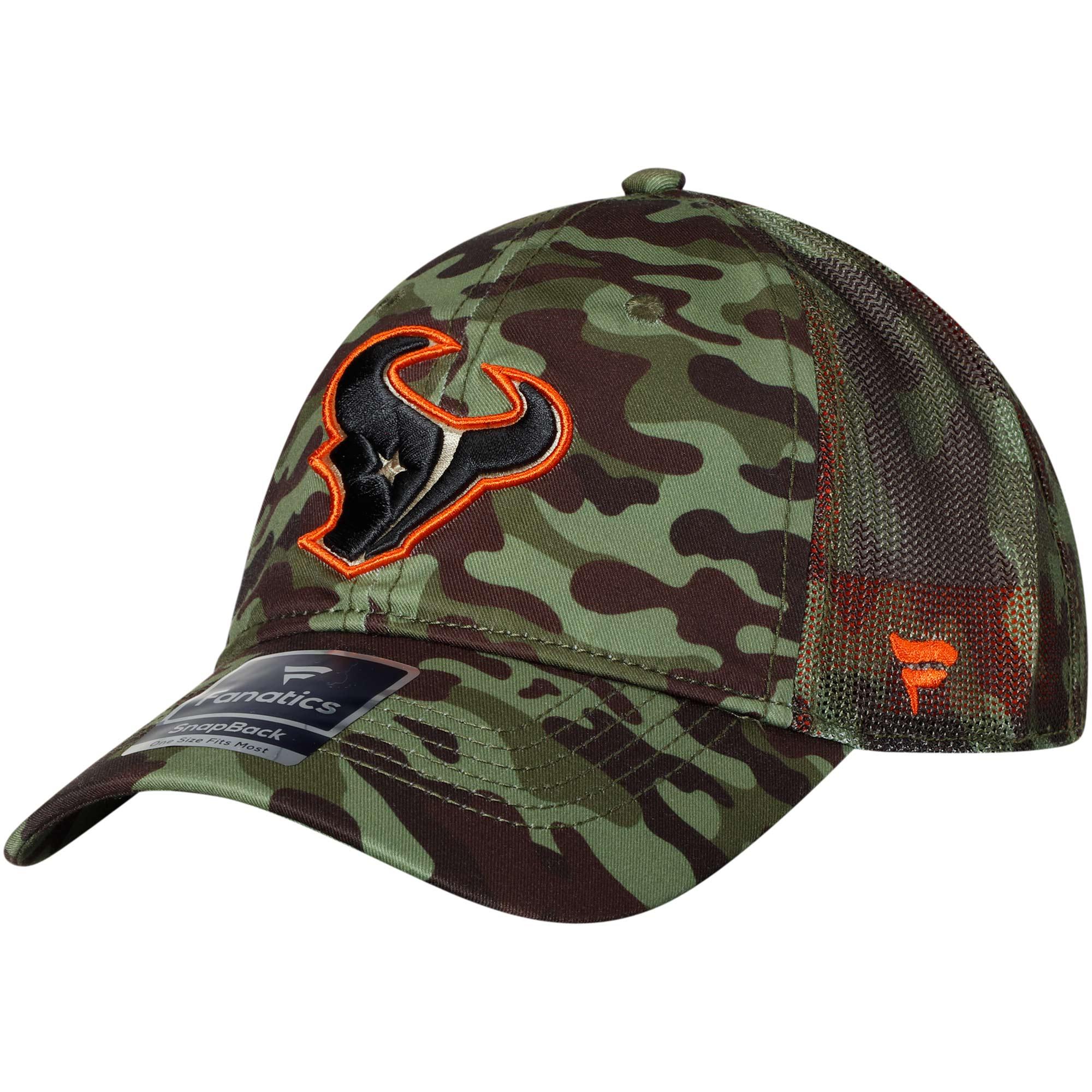 Houston Texans NFL Pro Line by Fanatics Branded Recon Trucker Adjustable Hat - Camo