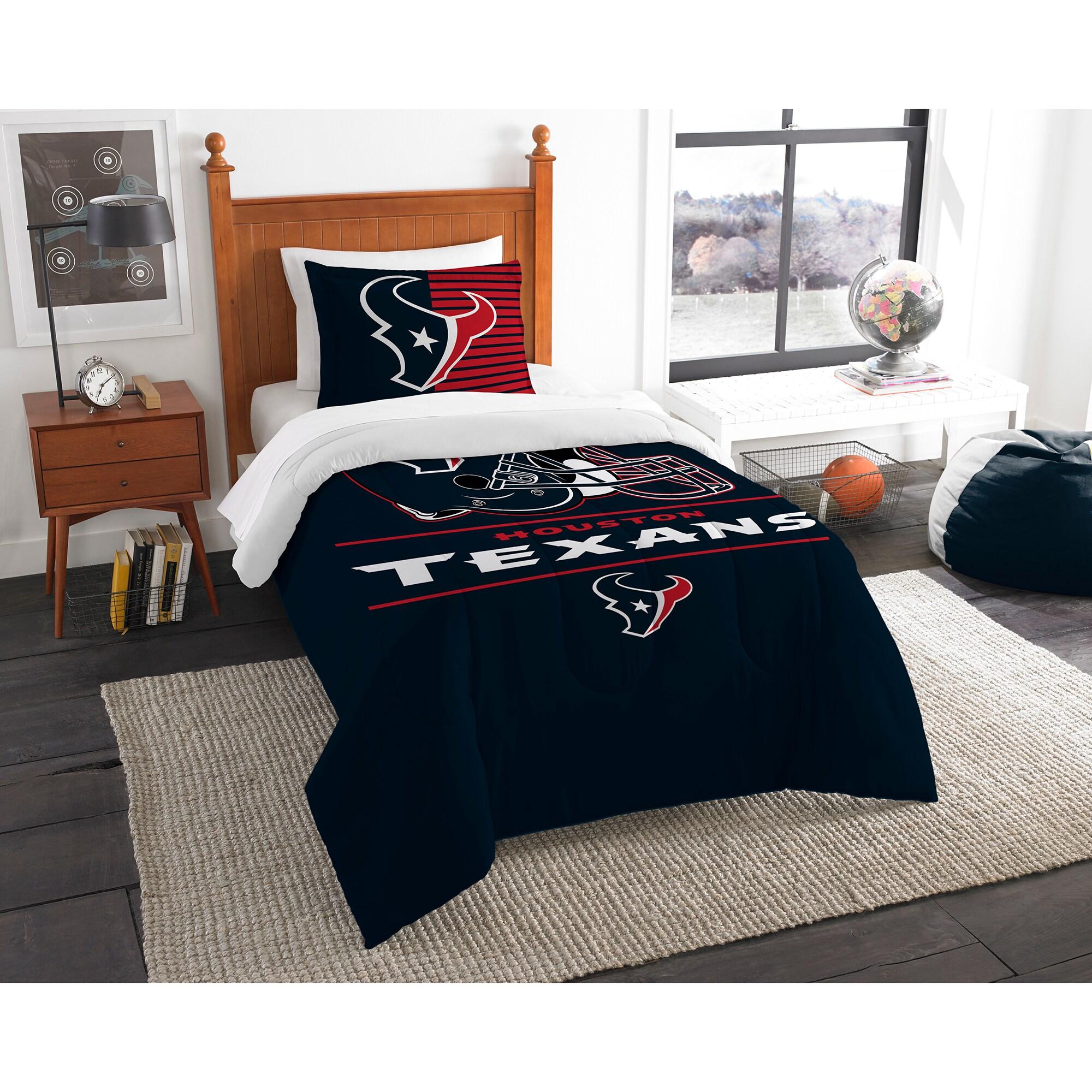 Houston Texans The Northwest Company NFL Draft Twin Comforter Set