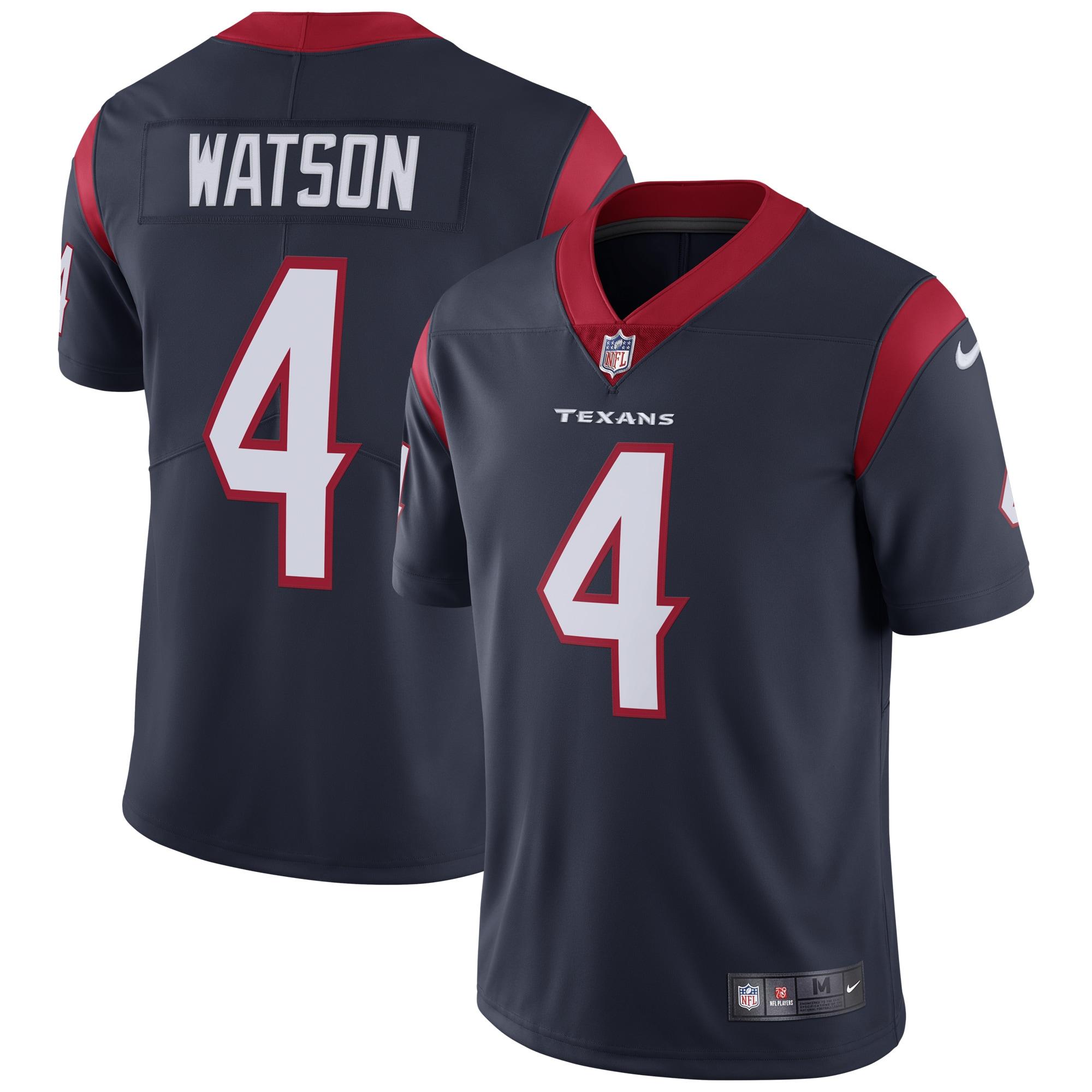 Deshaun Watson Houston Texans Nike Vapor Untouchable Limited Jersey - Navy