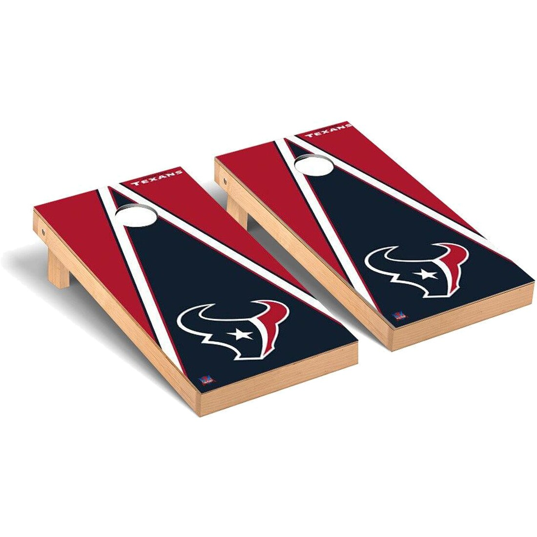Houston Texans 2' x 4' Triangle Cornhole Board Tailgate Toss Set