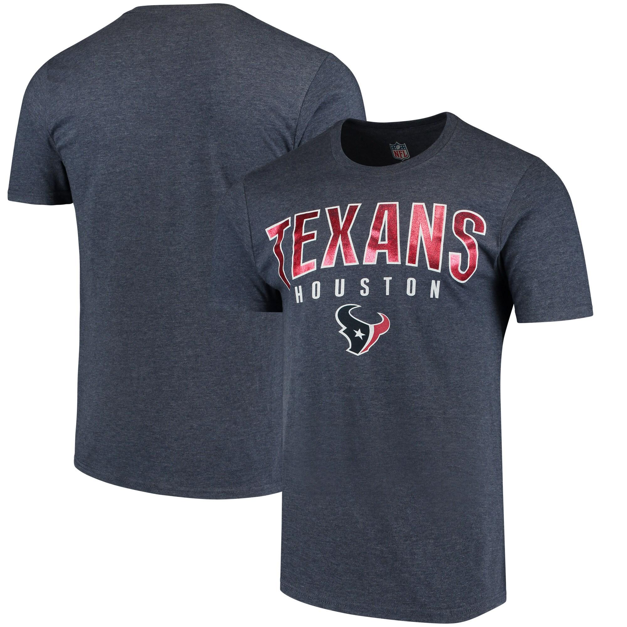 Houston Texans Hands High Prime Time Tri-Blend T-Shirt - Navy