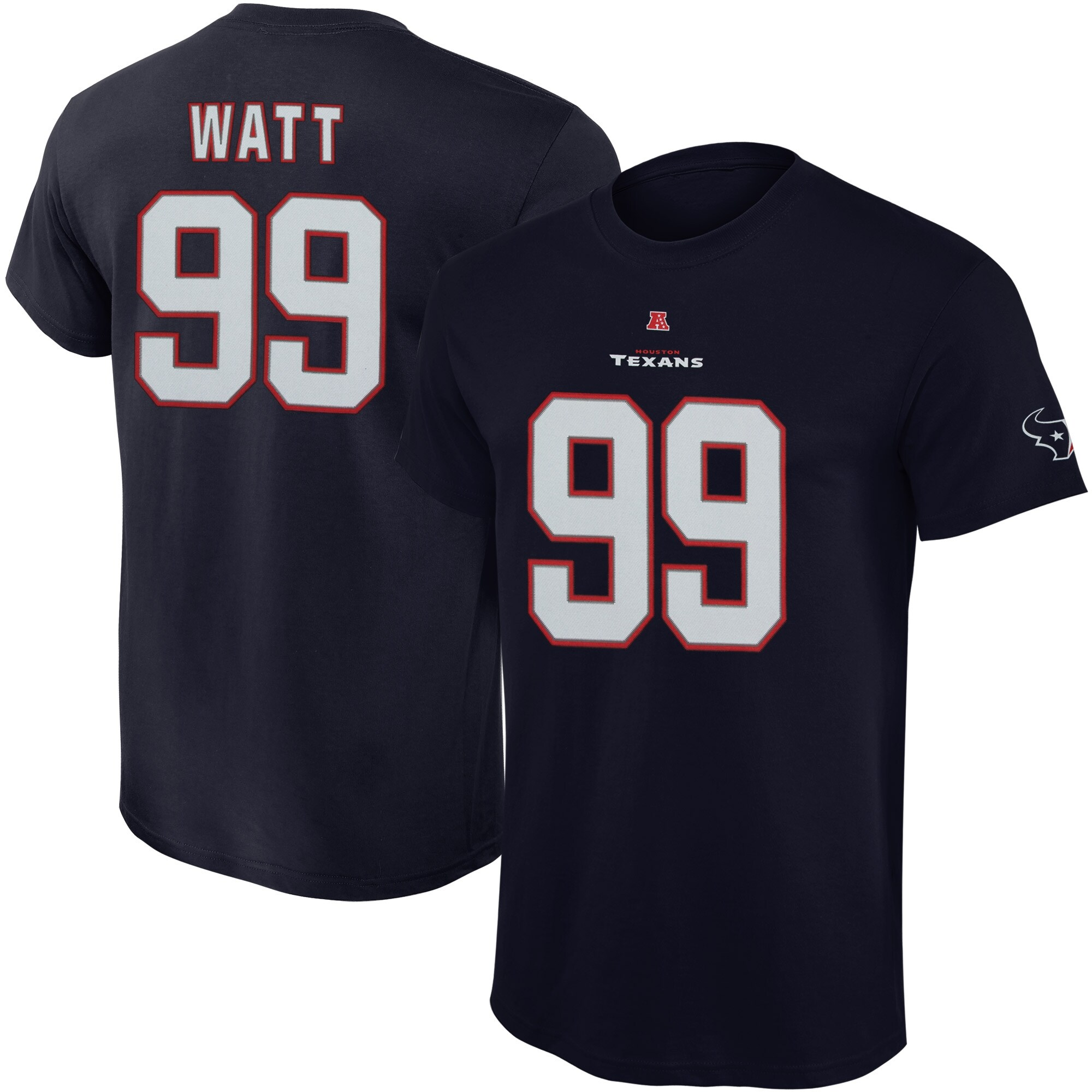 JJ Watt Houston Texans Majestic Big & Tall Eligible Receiver Name and Number T-Shirt - Navy