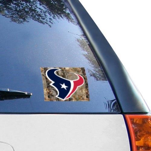 "Houston Texans WinCraft 5"" x 6"" Realtree Camo Multi-Use Decal"