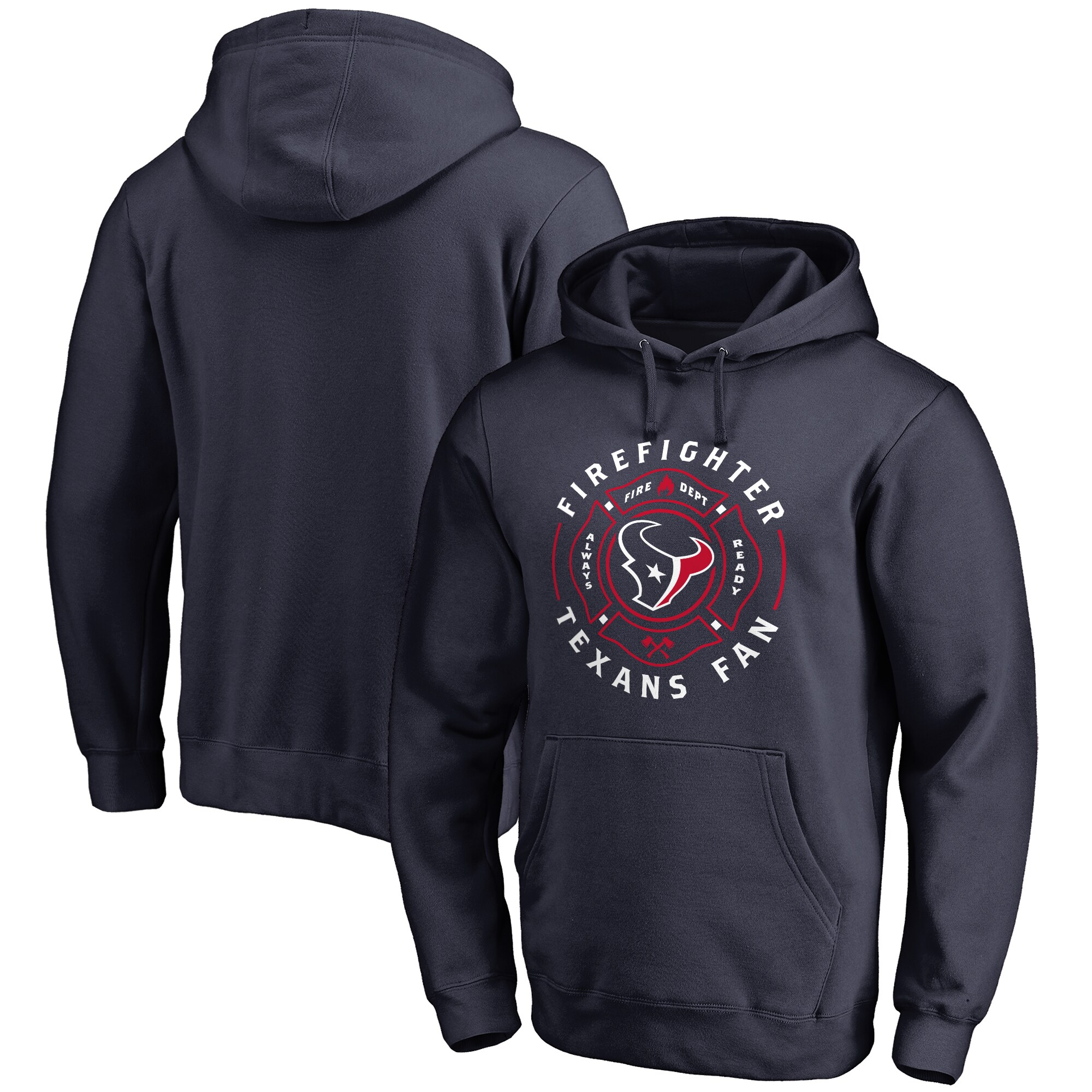 Houston Texans NFL Pro Line Firefighter Pullover Hoodie - Navy