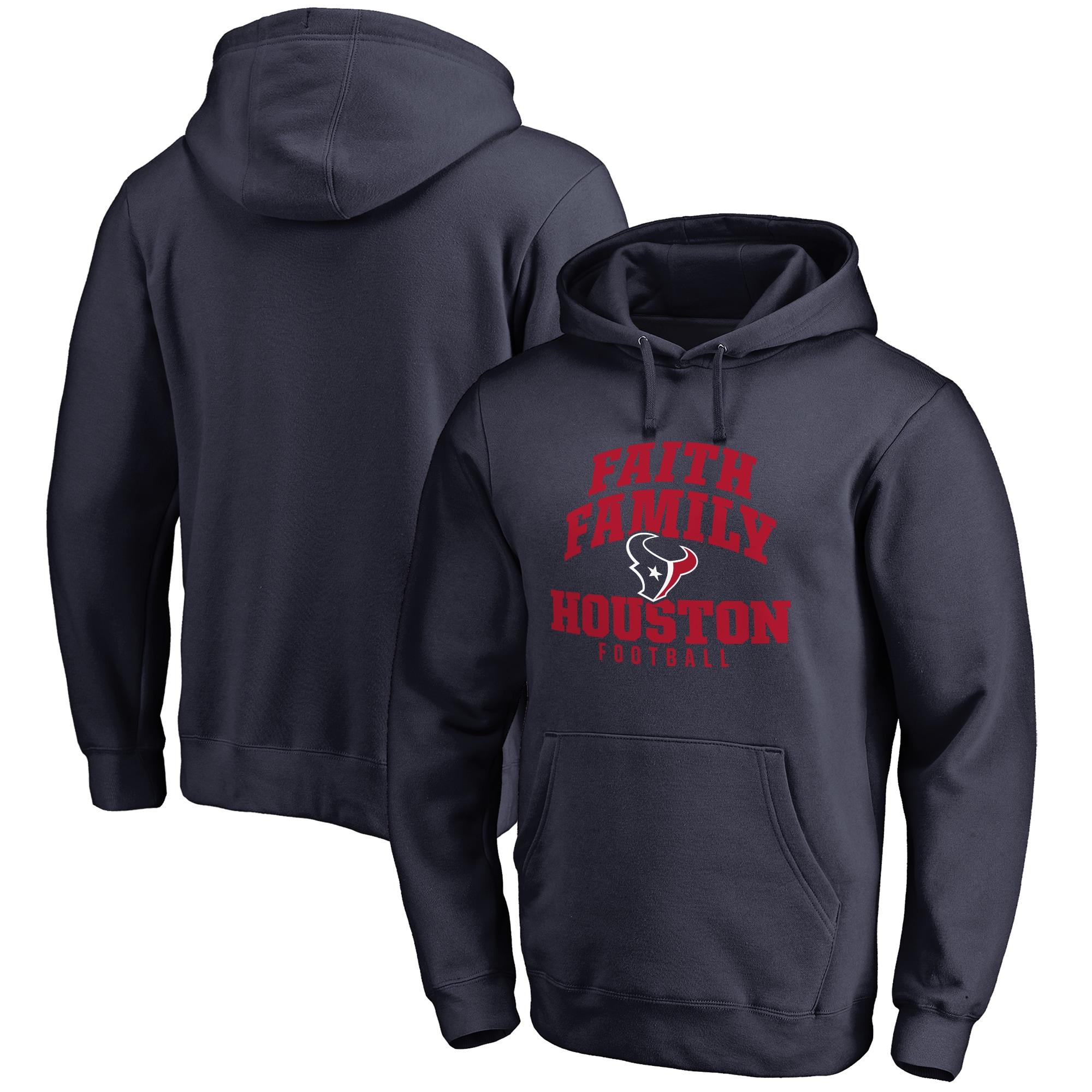 Houston Texans NFL Pro Line Faith Family Pullover Hoodie - Navy