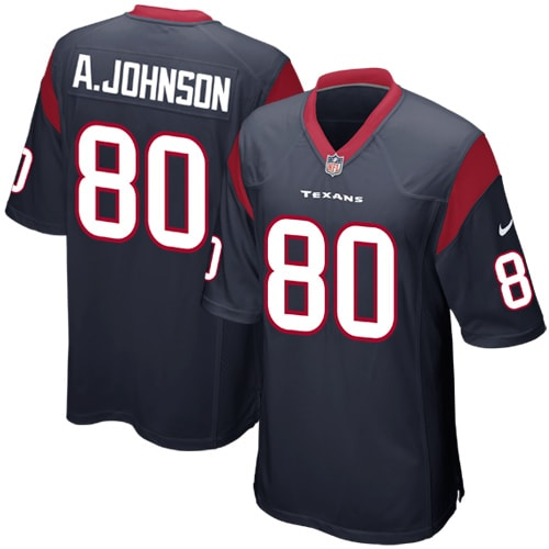 Andre Johnson Houston Texans Nike Youth Team Color Game Jersey - Navy Blue