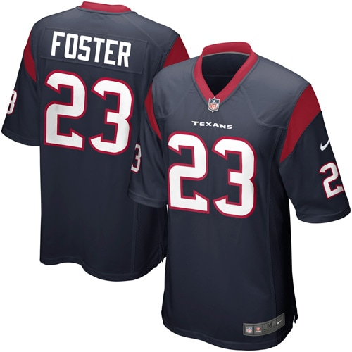 Arian Foster Houston Texans Nike Youth Team Color Game Jersey - Navy Blue