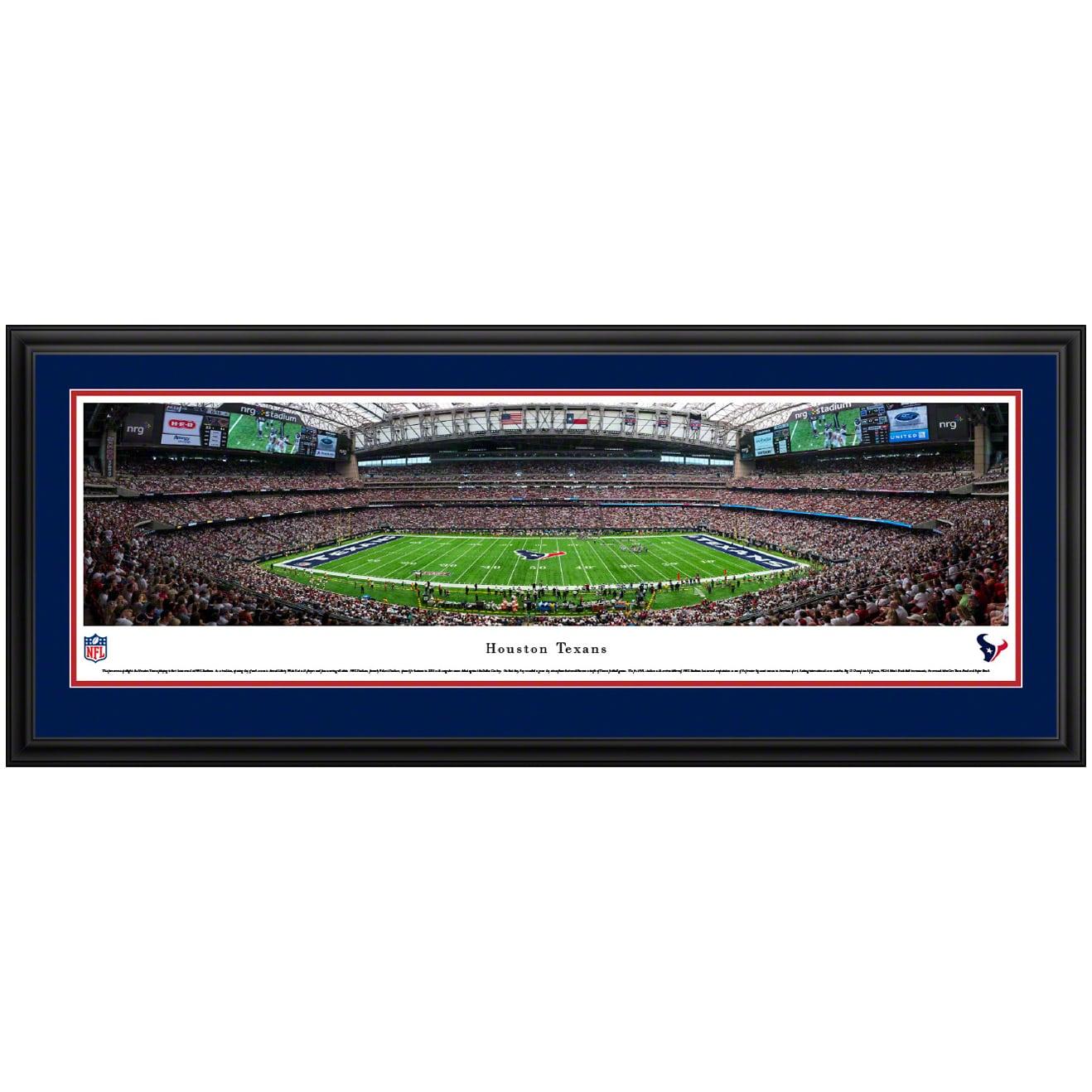 "Houston Texans 44"" x 18"" Deluxe Frame Panoramic Photo"