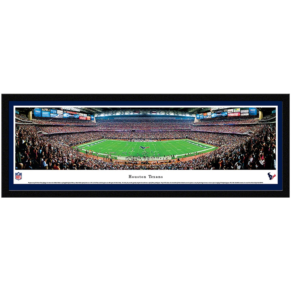"Houston Texans 42"" x 15.5"" Select Frame Panoramic Photo"