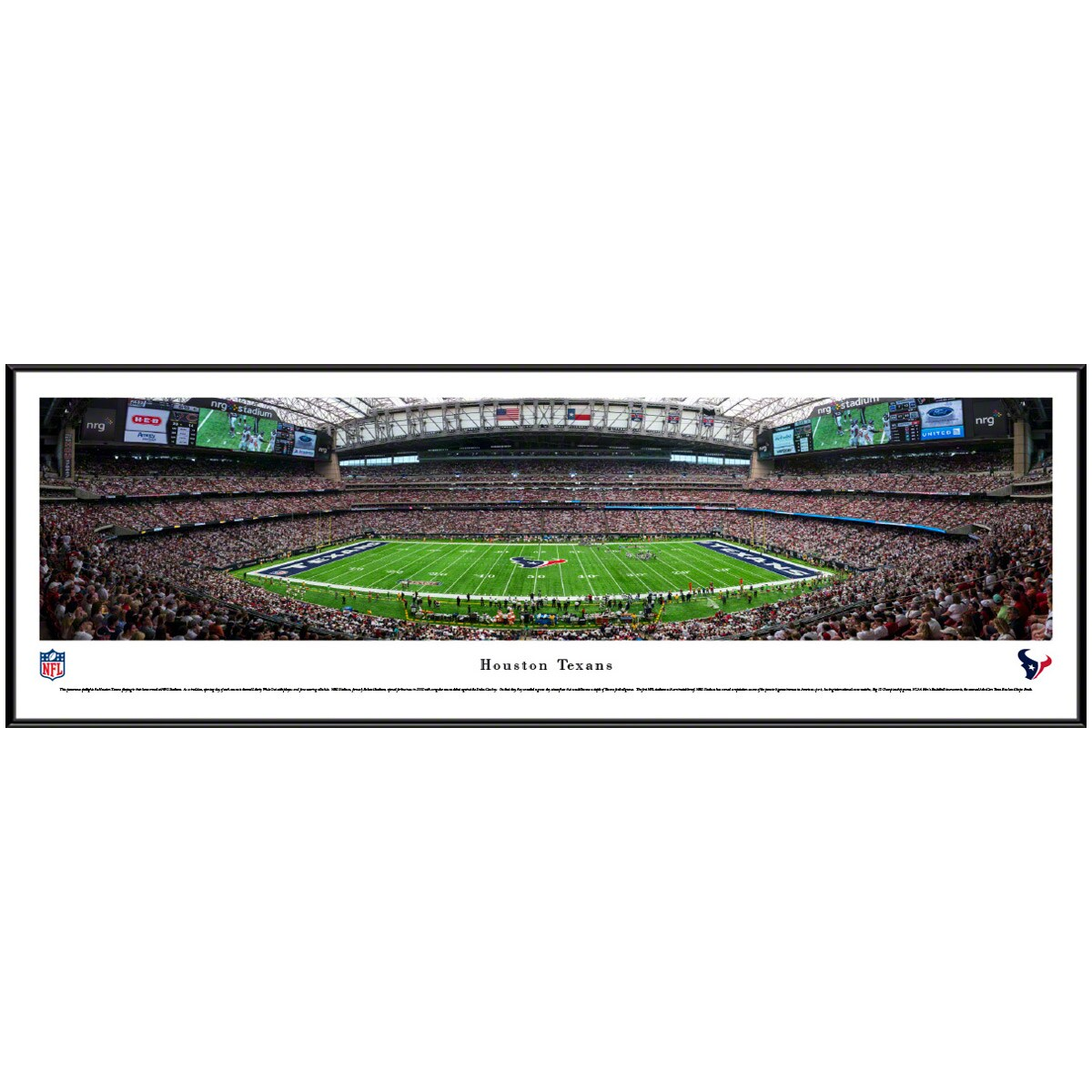 "Houston Texans 40.25"" x 13.75"" Standard Frame Panoramic Photo"