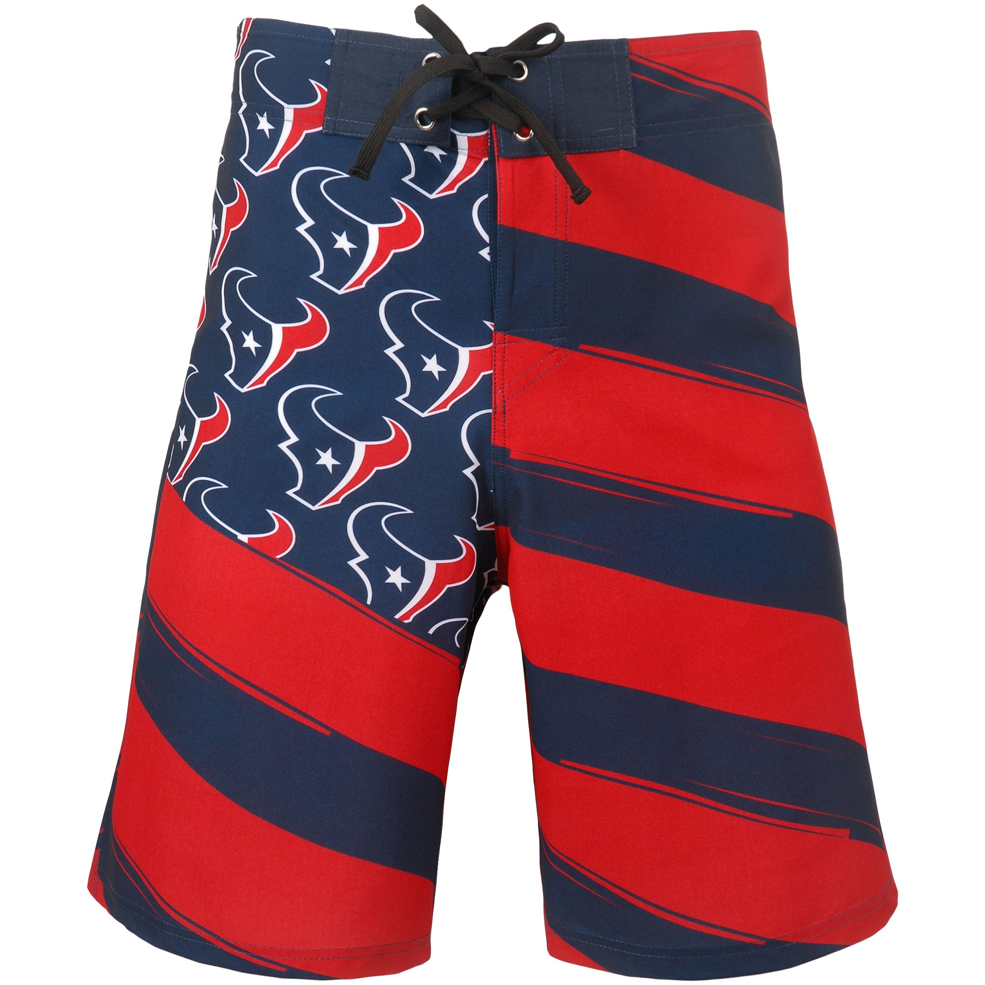Houston Texans Diagonal Flag Boardshorts - Navy