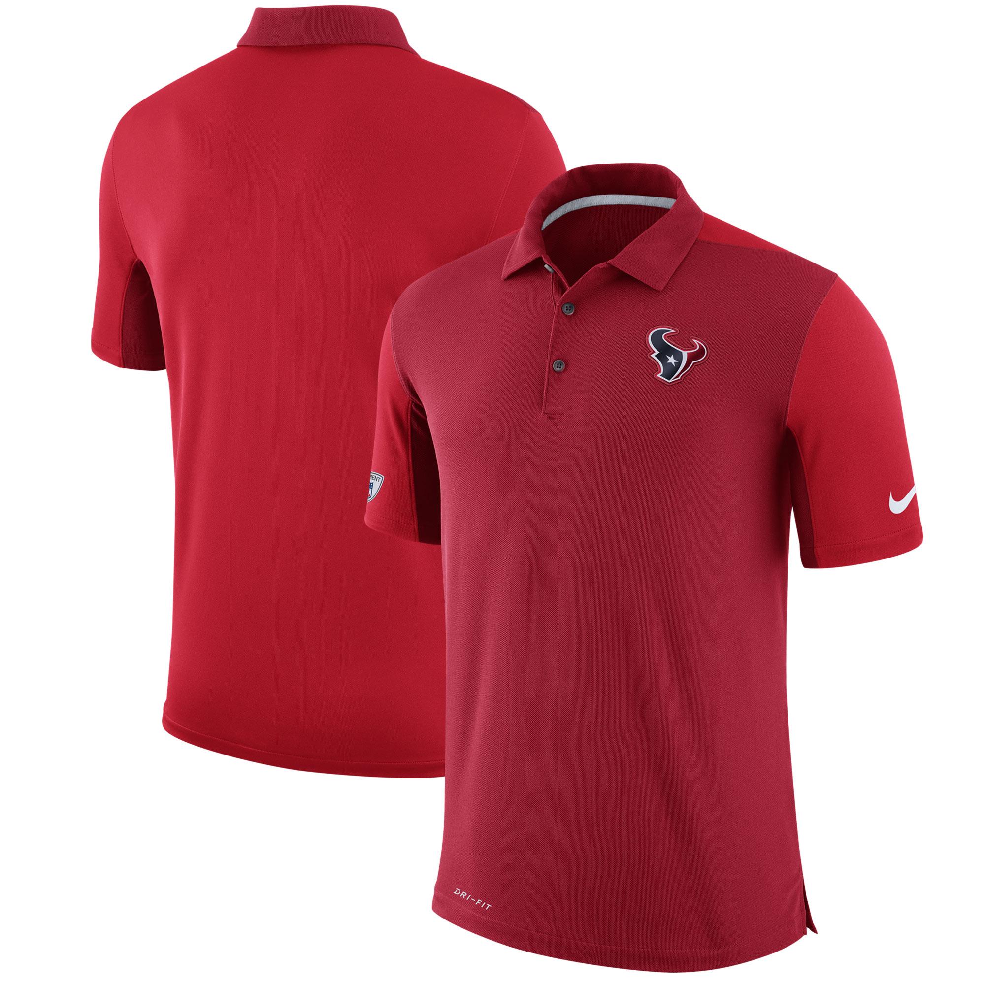Houston Texans Nike Sideline Team Issue Logo Performance Polo - Red