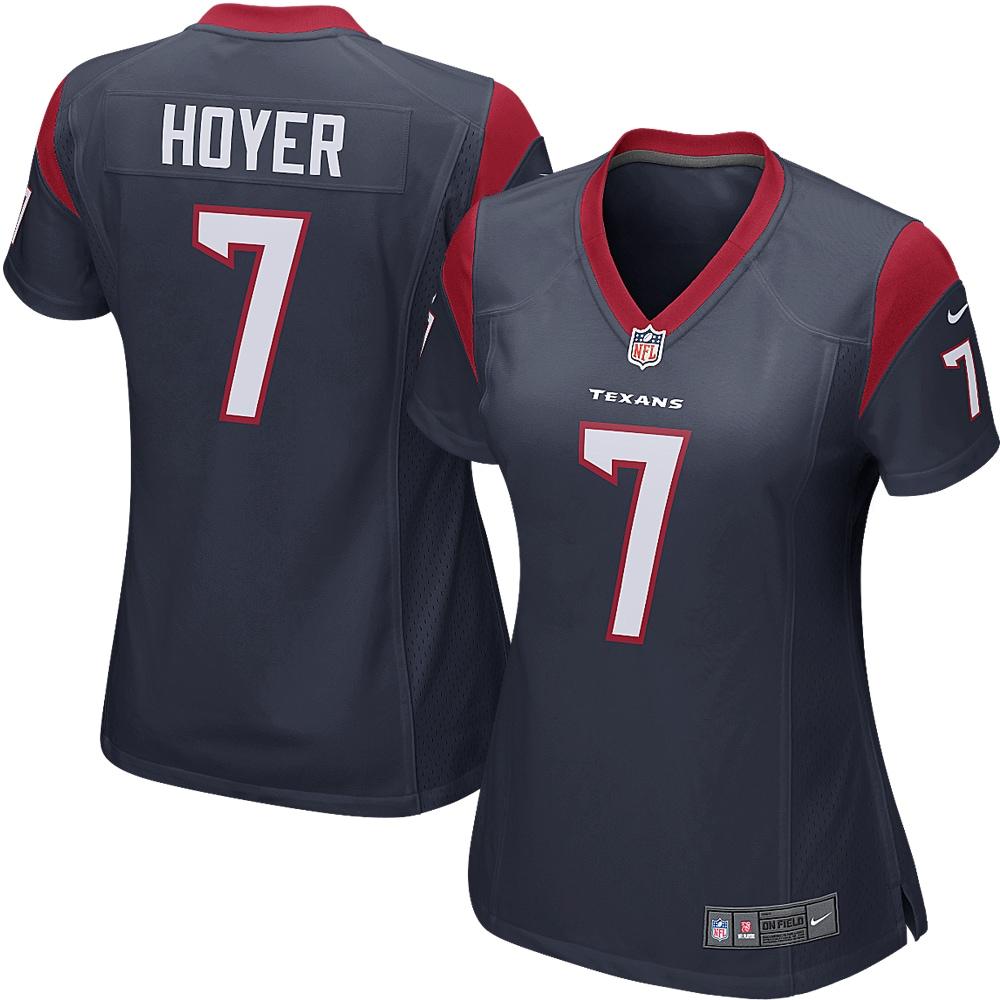 Brian Hoyer Houston Texans Nike Women's Game Jersey - Navy