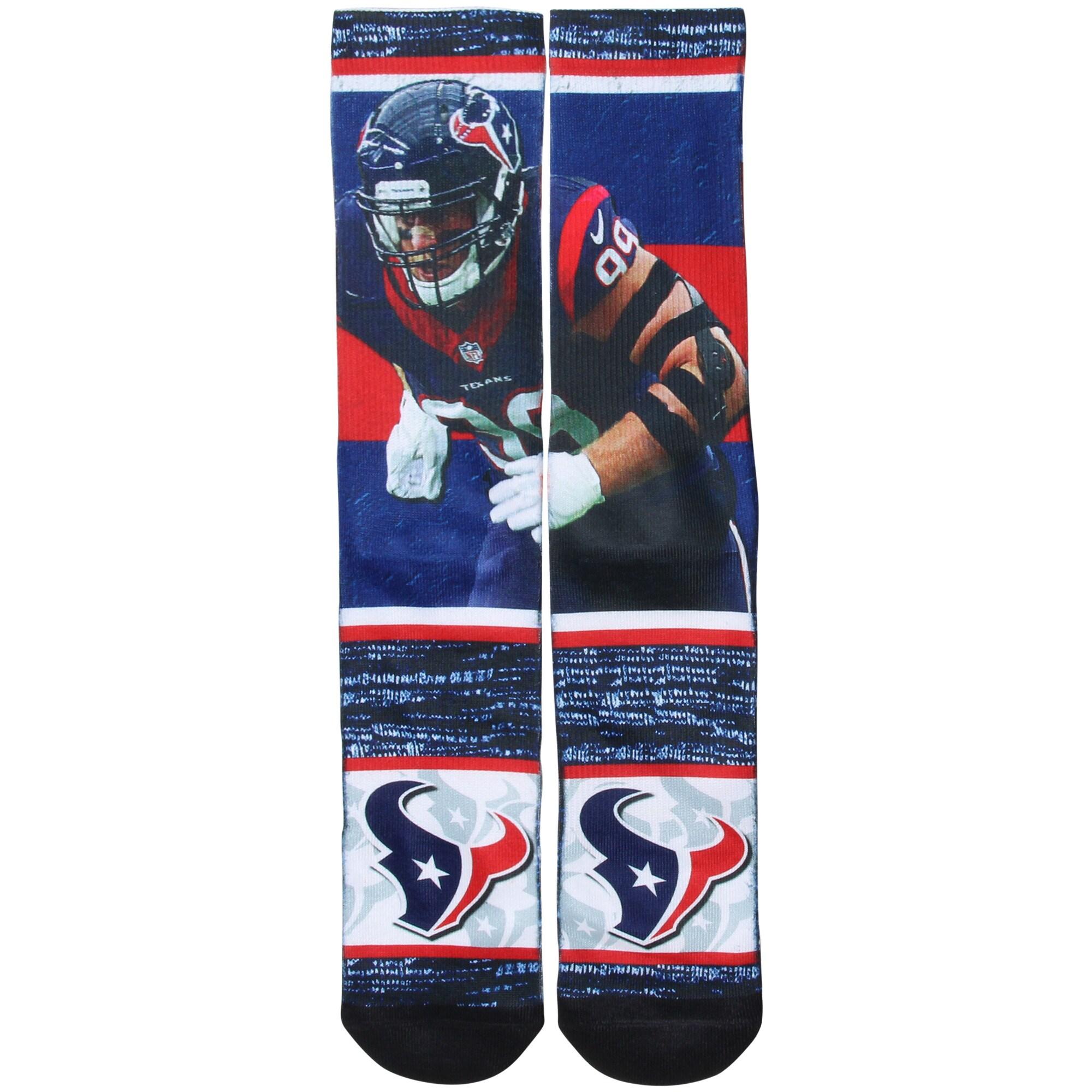 J.J. Watt Houston Texans For Bare Feet Rush Socks