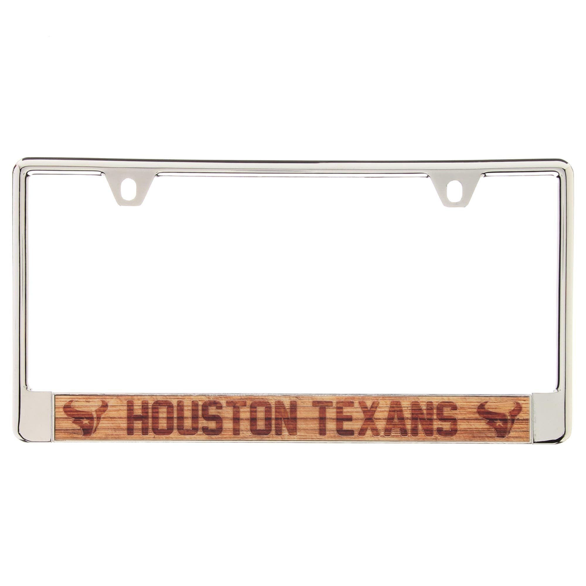 Houston Texans Wood Design Acrylic License Plate Frame