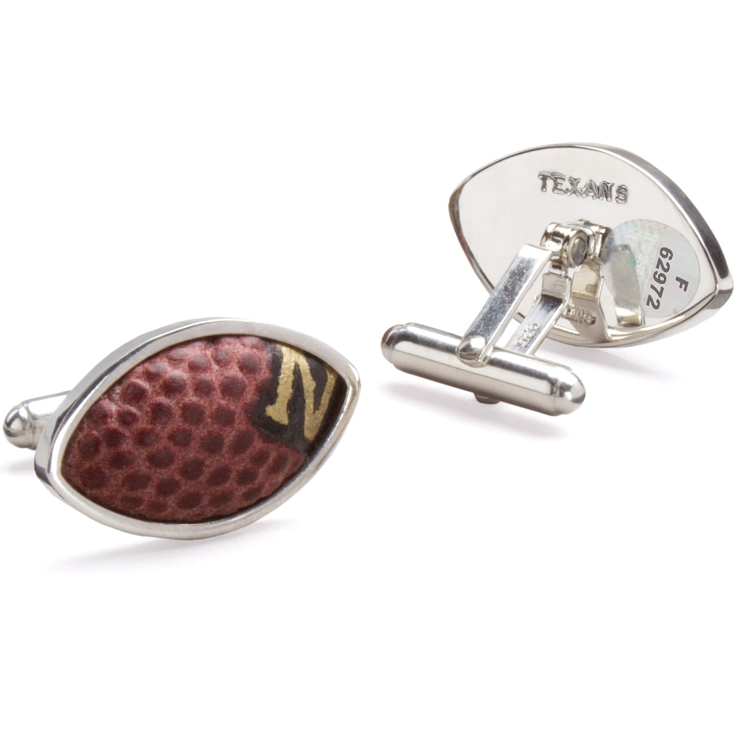 Houston Texans Tokens & Icons Game-Used Football Cuff Links