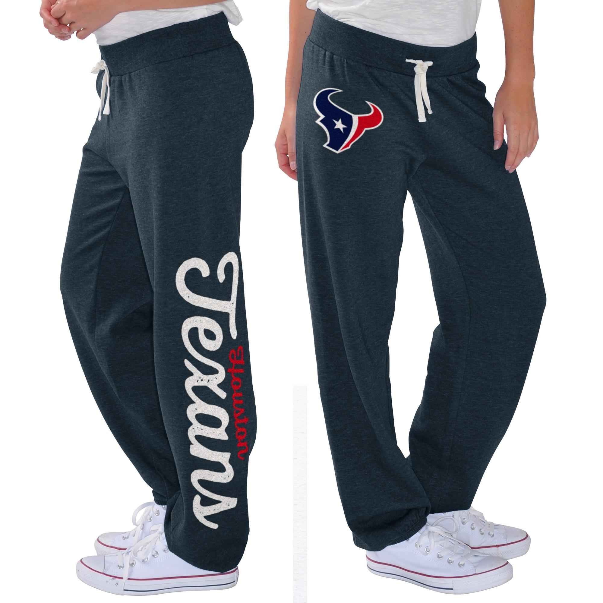 Houston Texans G-III 4Her by Carl Banks Women's Scrimmage Fleece Pants - Navy