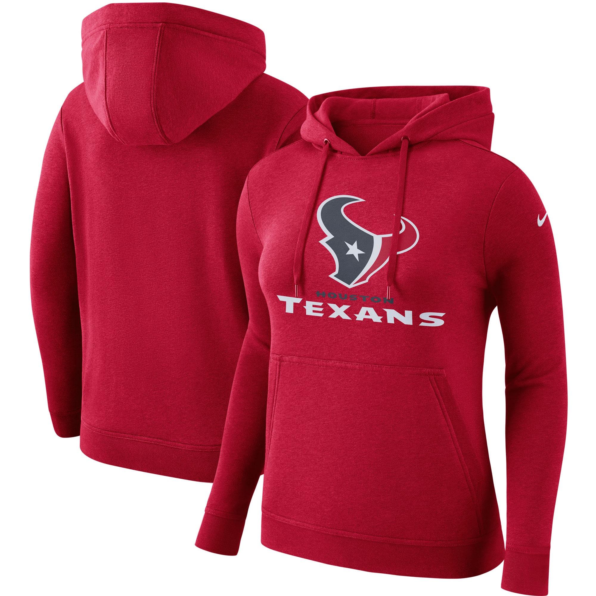 Houston Texans Nike Women's Club Tri-Blend Pullover Hoodie - Red
