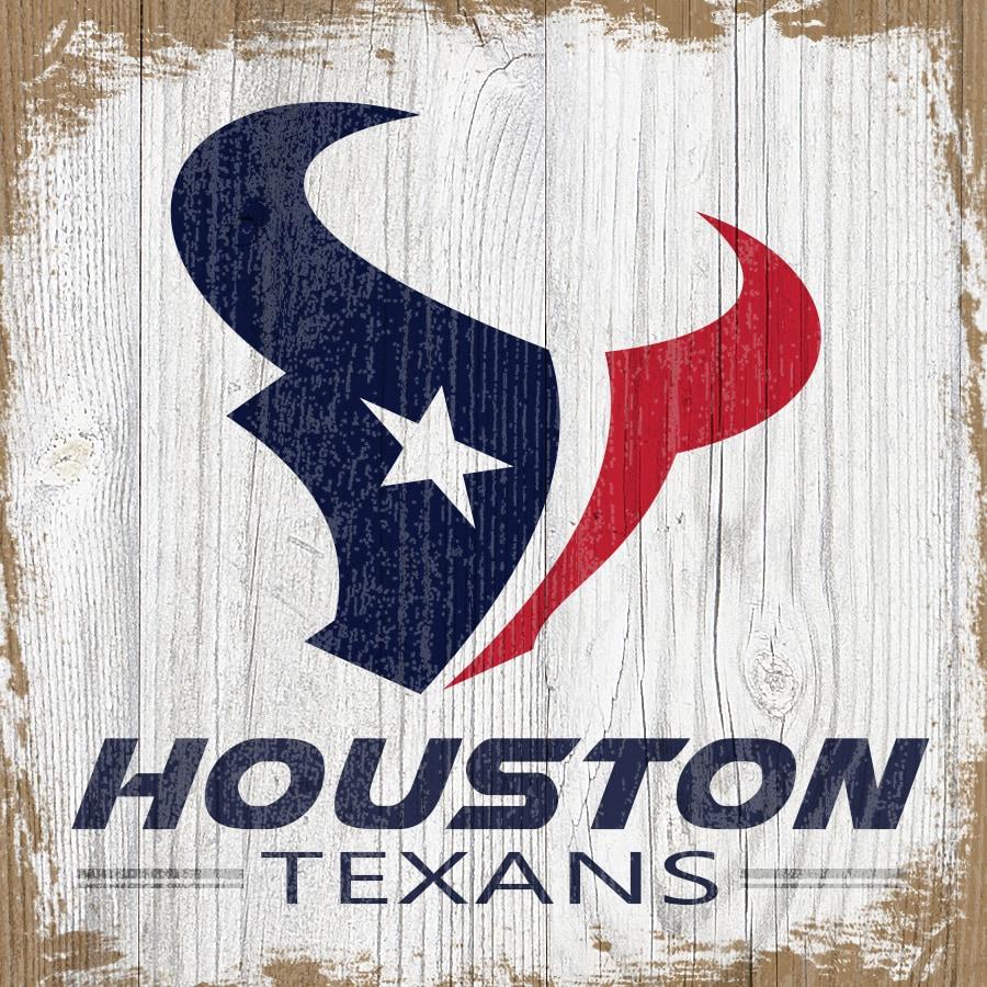 Houston Texans 6'' x 6'' Team Logo Block