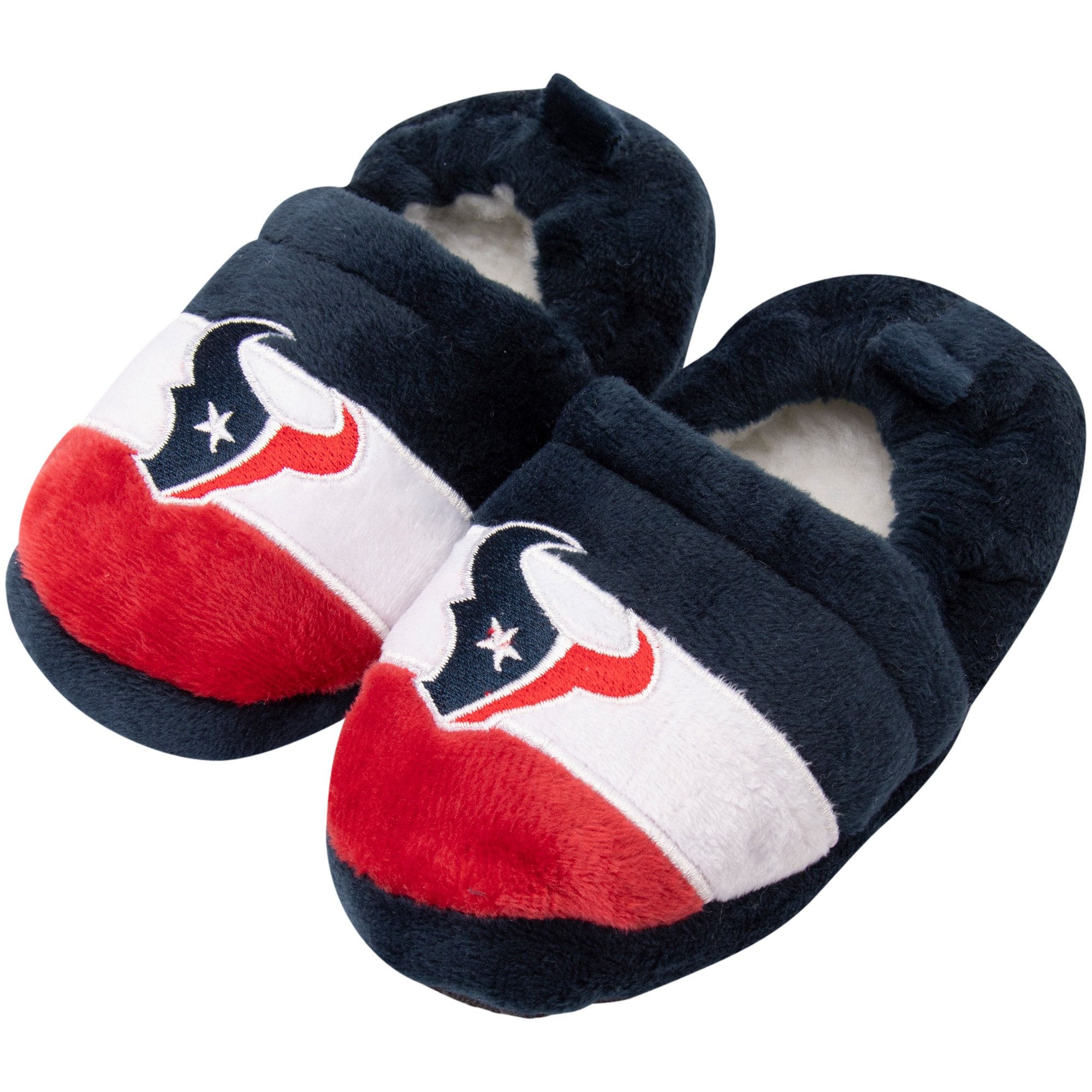 Houston Texans Toddler Color Block Close Back Slippers