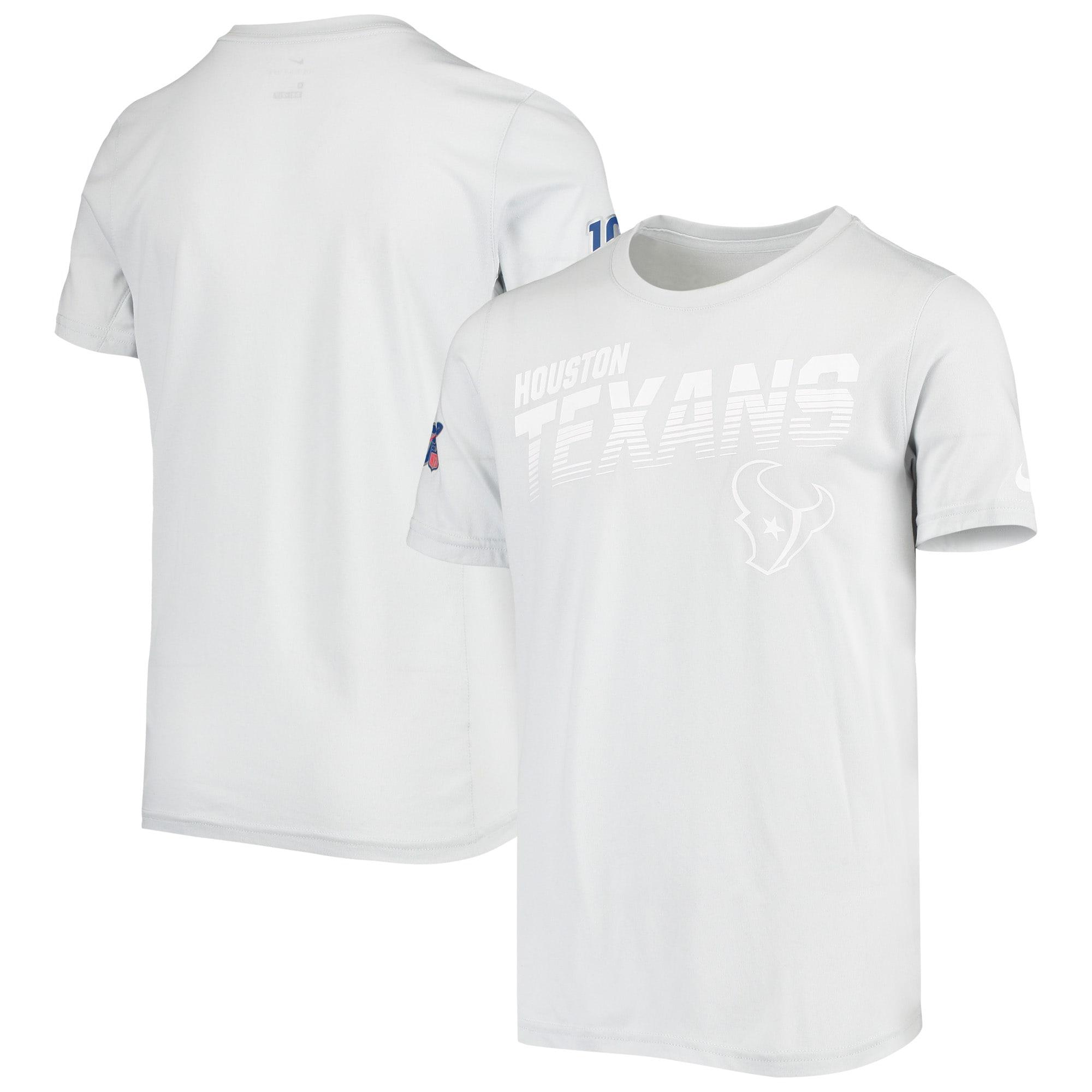 Houston Texans Nike Youth NFL 100 2019 Sideline Platinum Performance T-Shirt - White