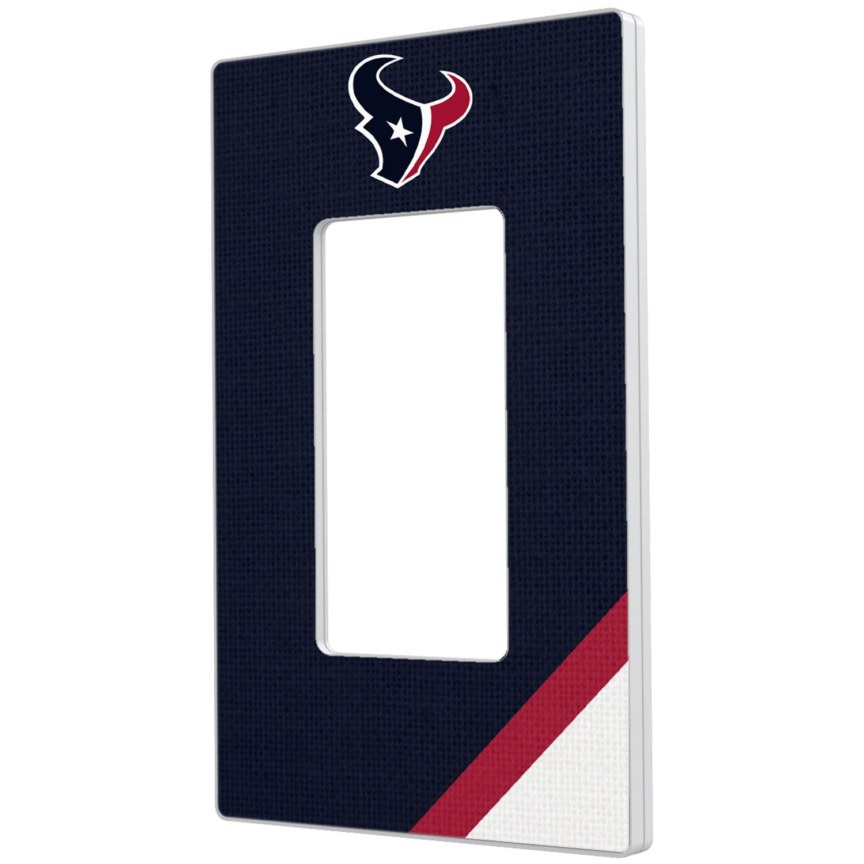 Houston Texans Diagonal Stripe Single Rocker Light Switch Plate