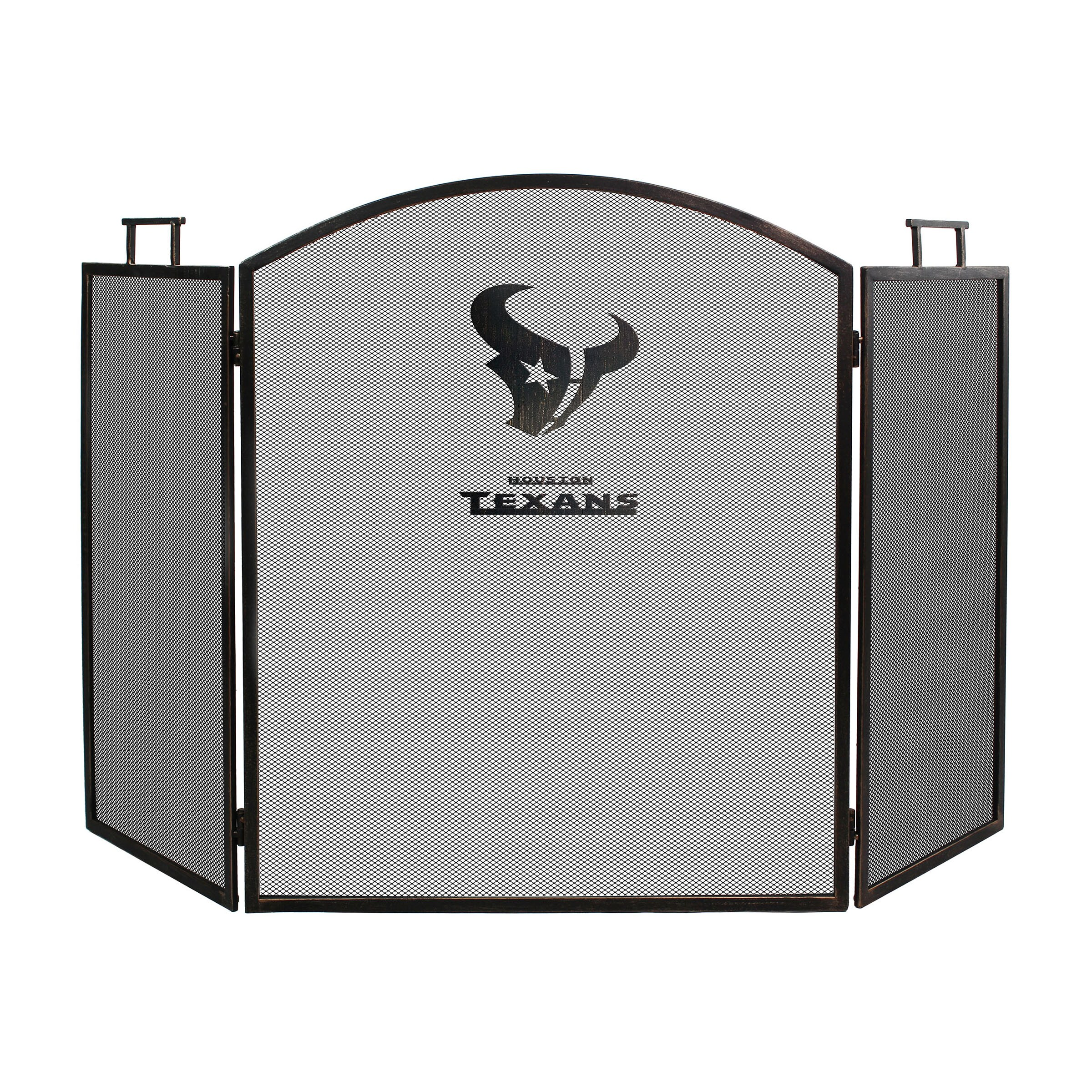 Houston Texans Imperial Fireplace Screen - Brown