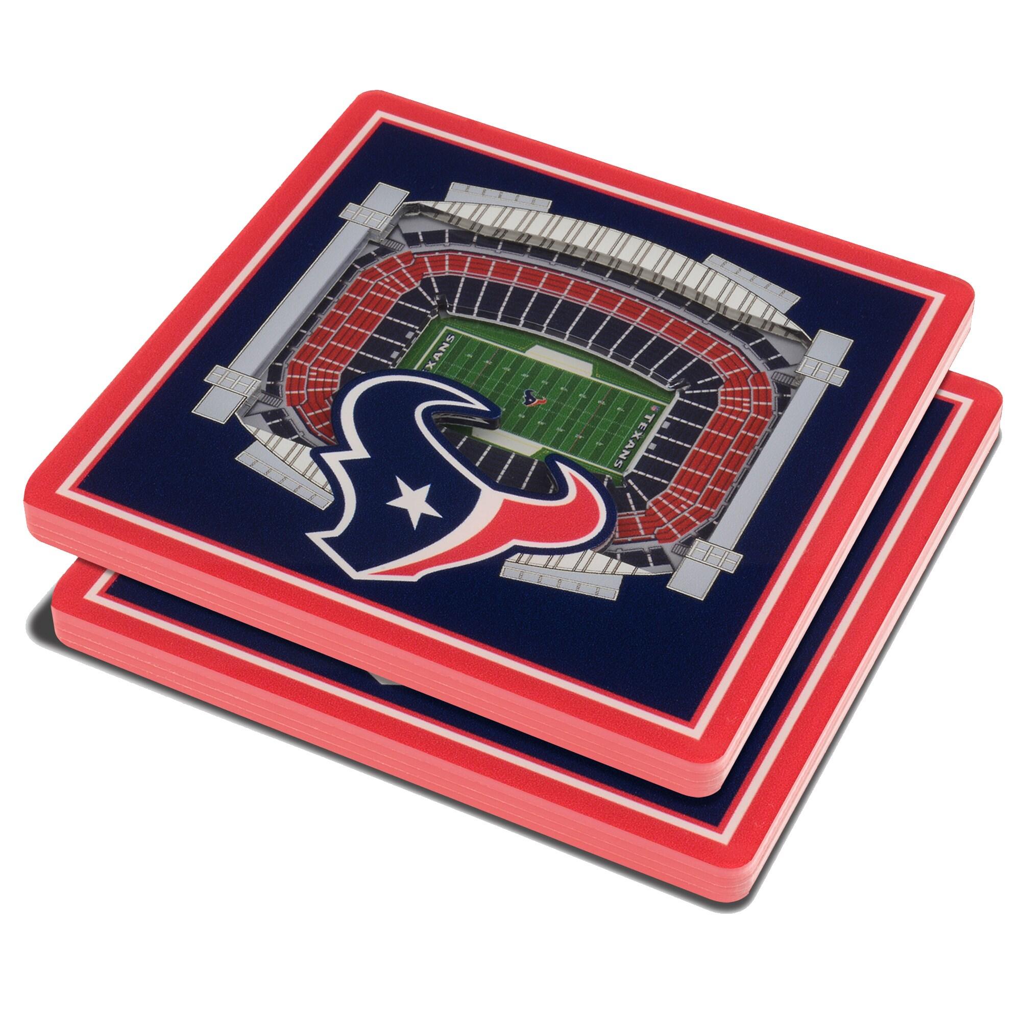 Houston Texans 3D StadiumViews Coasters - Blue