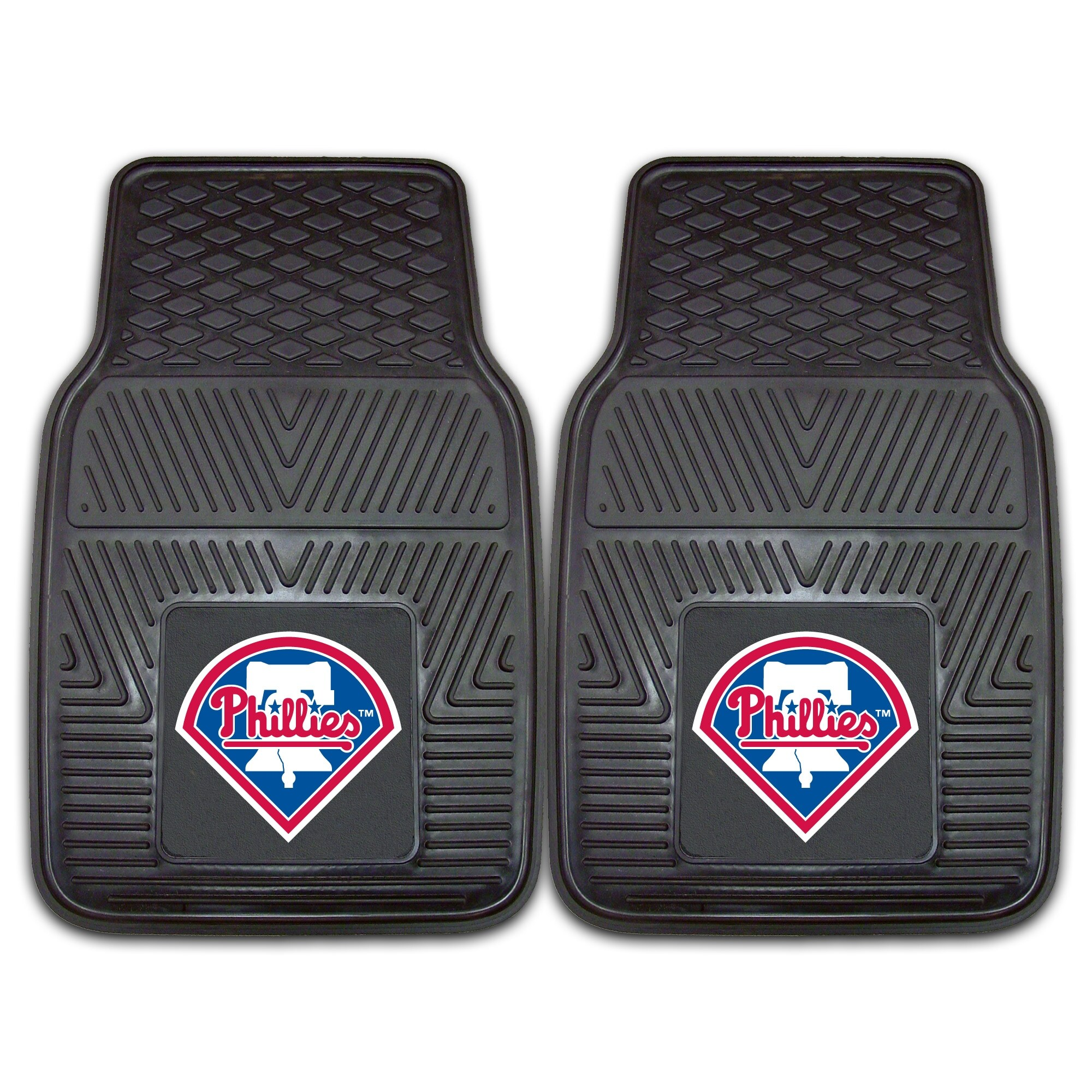 "Philadelphia Phillies 27"" x 18"" 2-Pack Vinyl Car Mat Set"