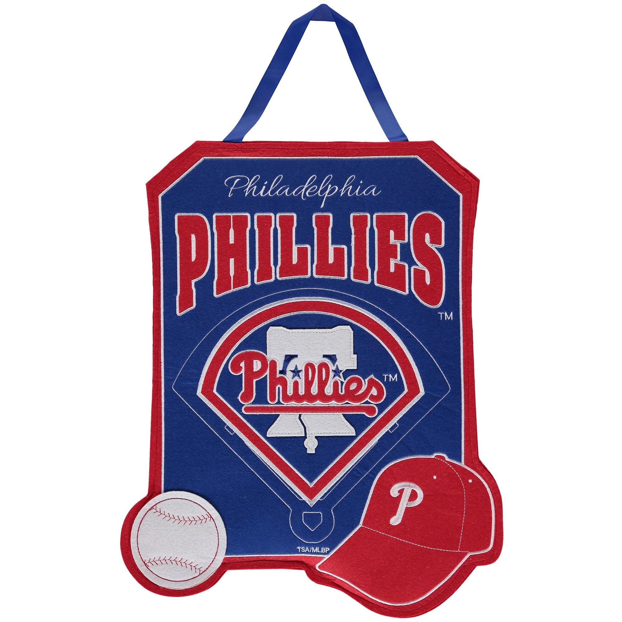 """Philadelphia Phillies 20.5"""" x 16.5"""" Felt Door Decor Wall Banner"""
