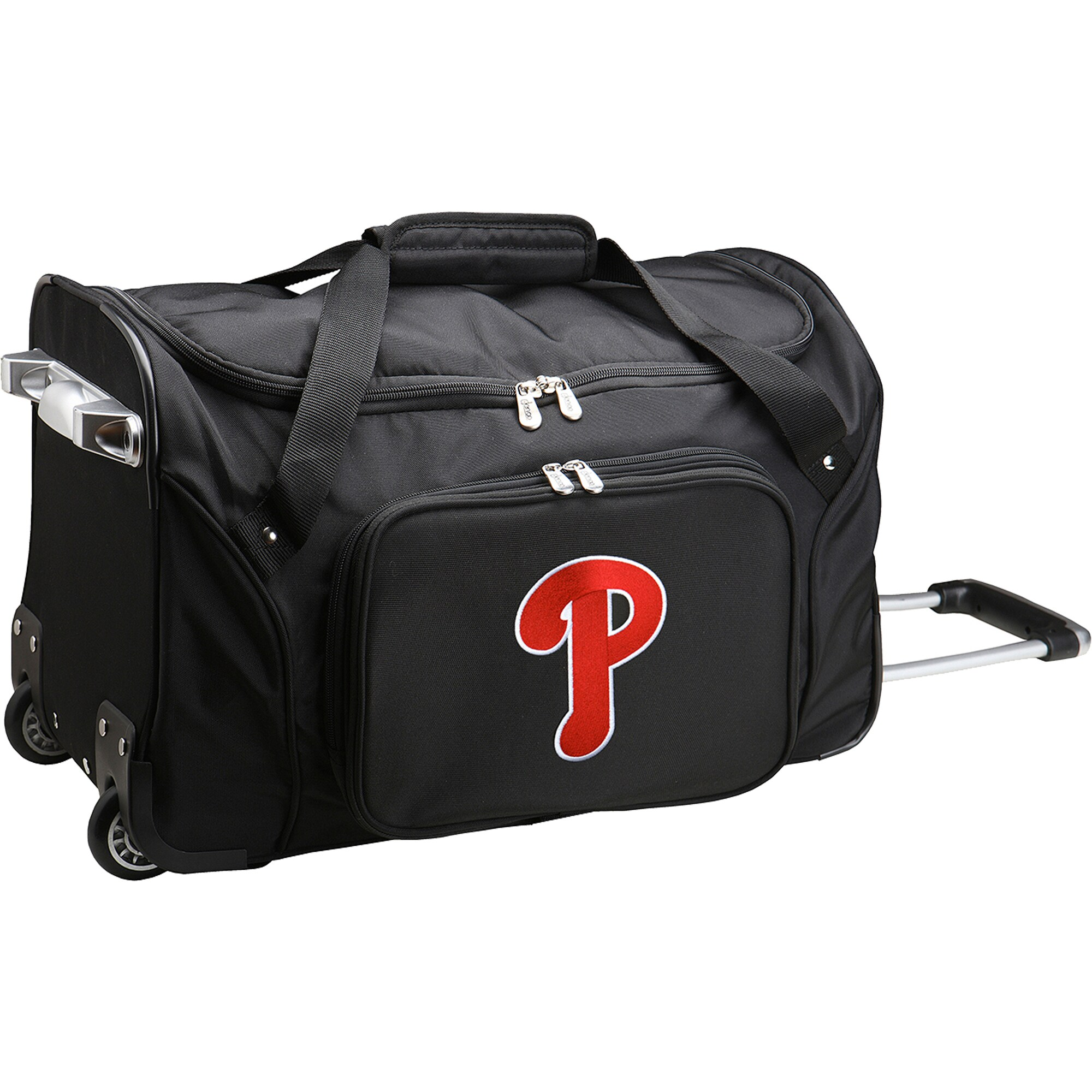 "Philadelphia Phillies 22"" 2-Wheeled Duffel Bag - Black"