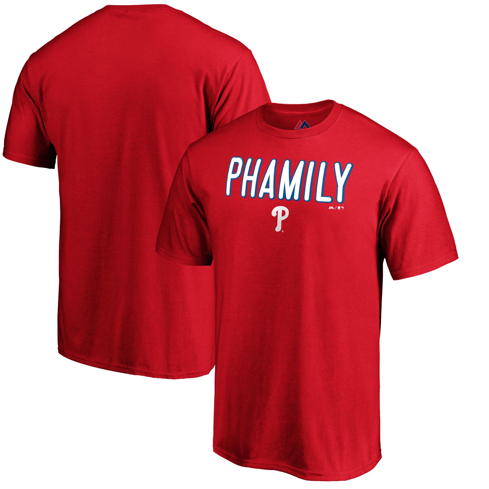 Bryce Harper Philadelphia Phillies Majestic Hometown Philly Pham T-Shirt - Red
