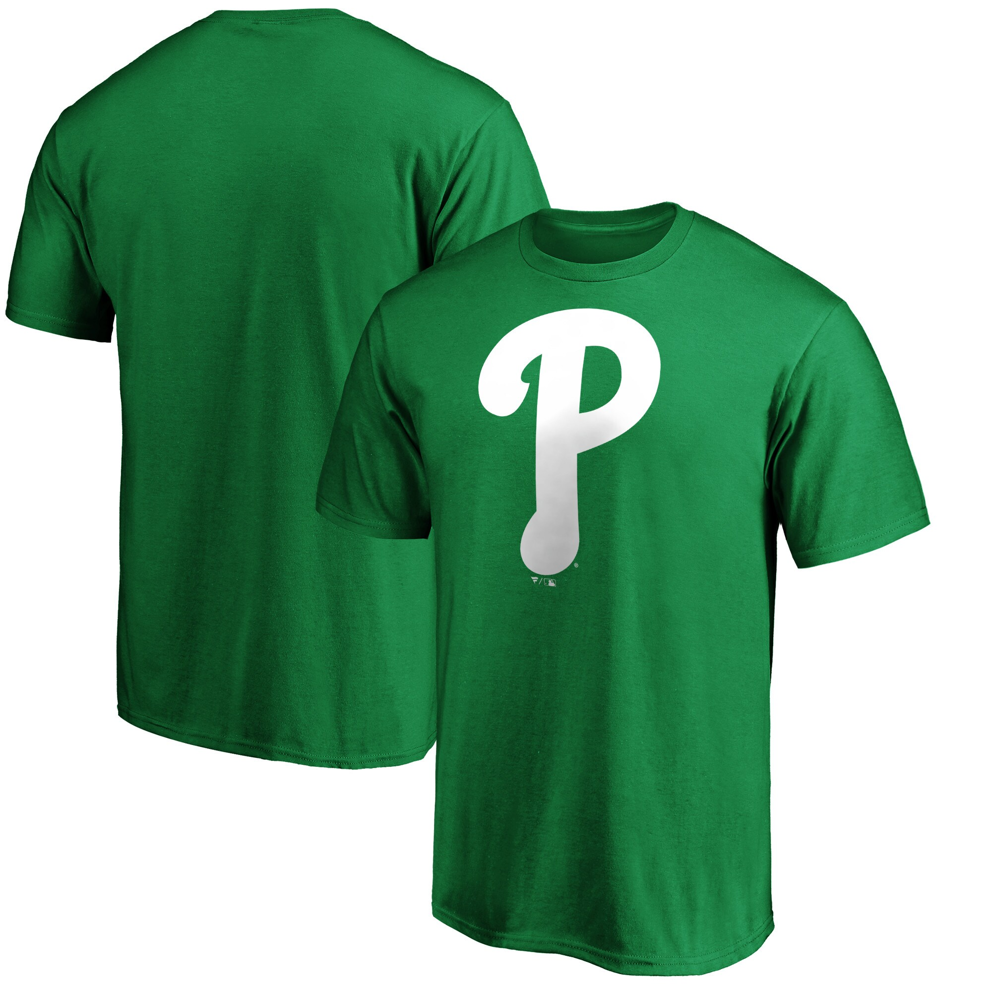 Philadelphia Phillies Fanatics Branded St. Patrick's Day Logo T-Shirt - Kelly Green