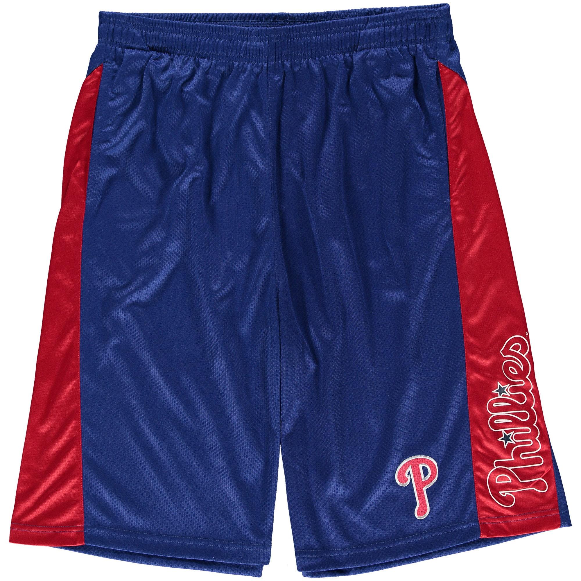 Philadelphia Phillies Big & Tall Two-Tone Shorts - Royal/Red