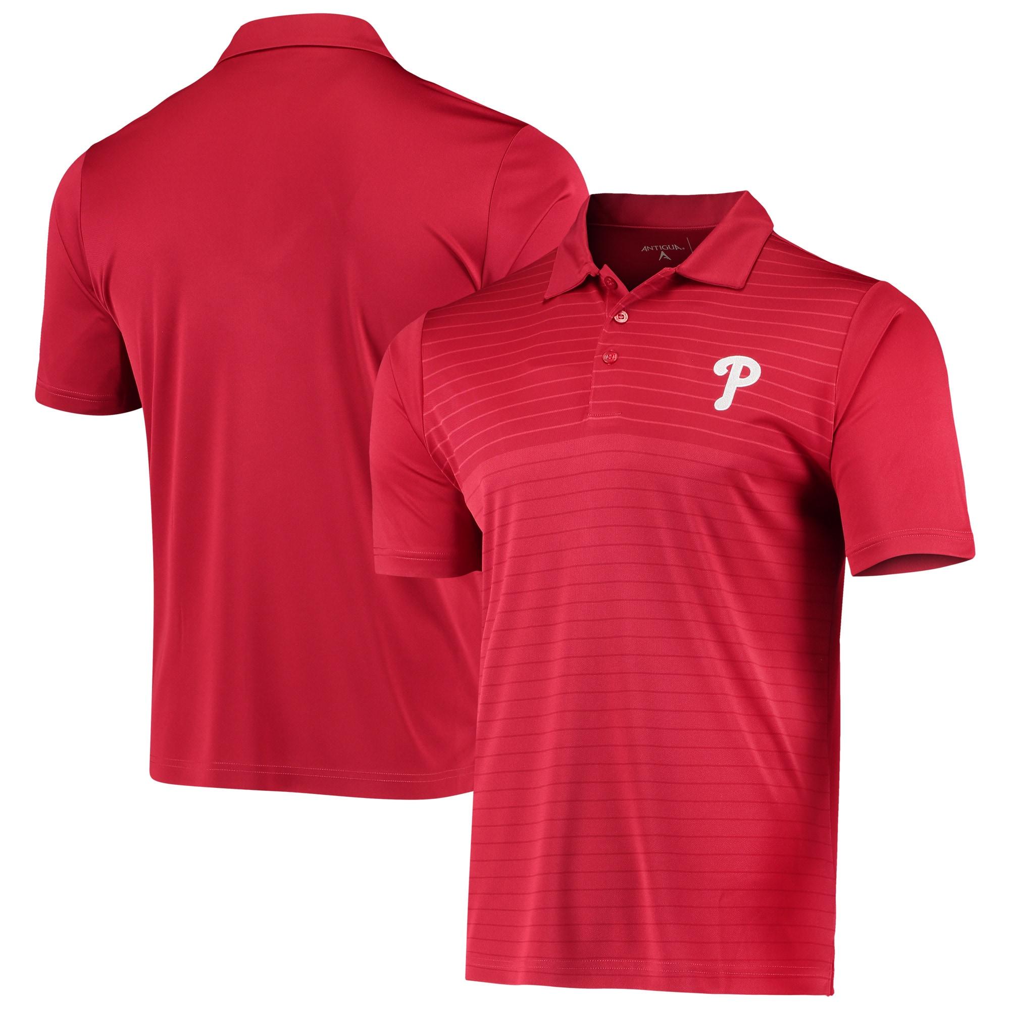 Philadelphia Phillies Antigua Relay Polo - Red